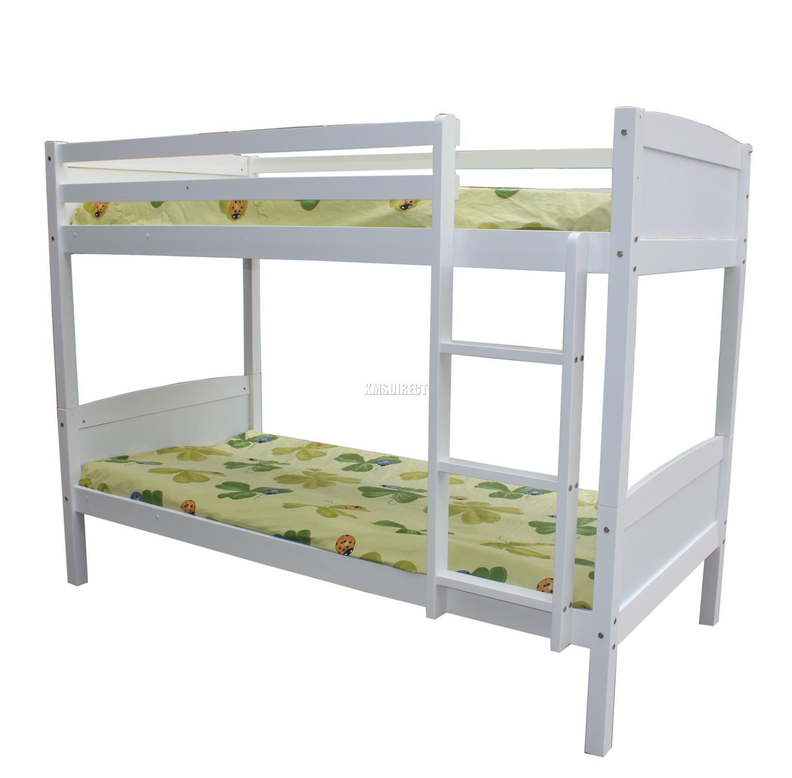 Foxhunter bunk bed 3ft wooden frame children sleeper no for White bunk bed frame