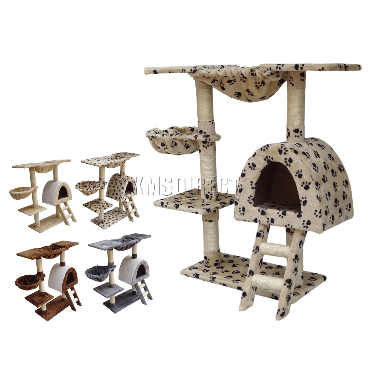 Foxhunter cat kitten post tree scratcher bed activity centre sisal climbing toy ebay - Cat bed scratcher ...