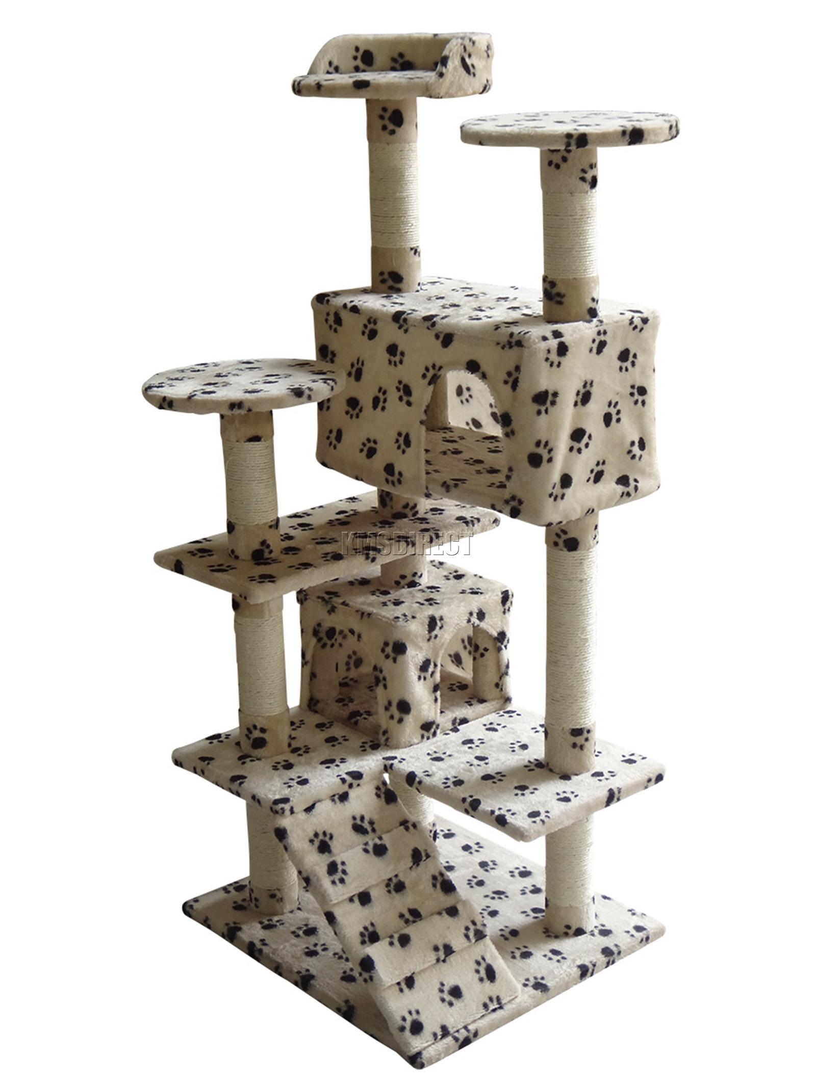 Foxhunter cat kitten post tree scratcher activity centre sisal toy bed cat005 ebay - Cat bed scratcher ...