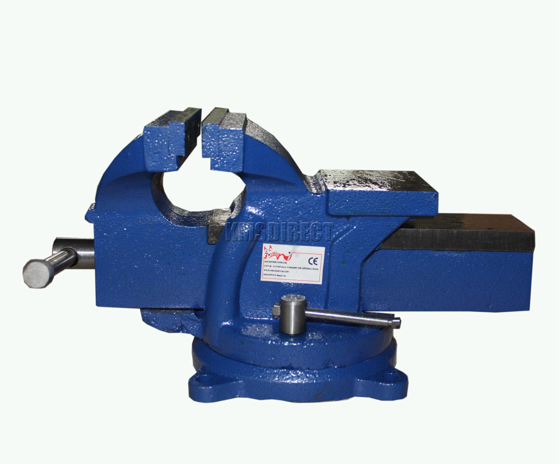 Foxhunter Swivel Base Bench Vice Vise Jaw Clamp For