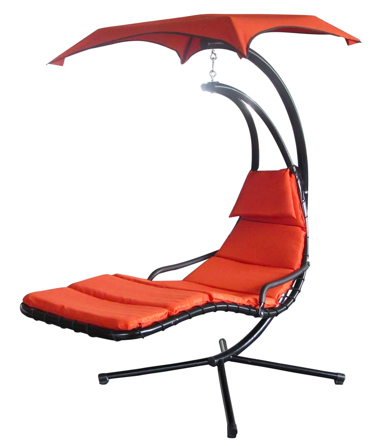 garten h ngematte helikopter h ngender stuhl sonnen liege orange foxhunter ebay. Black Bedroom Furniture Sets. Home Design Ideas