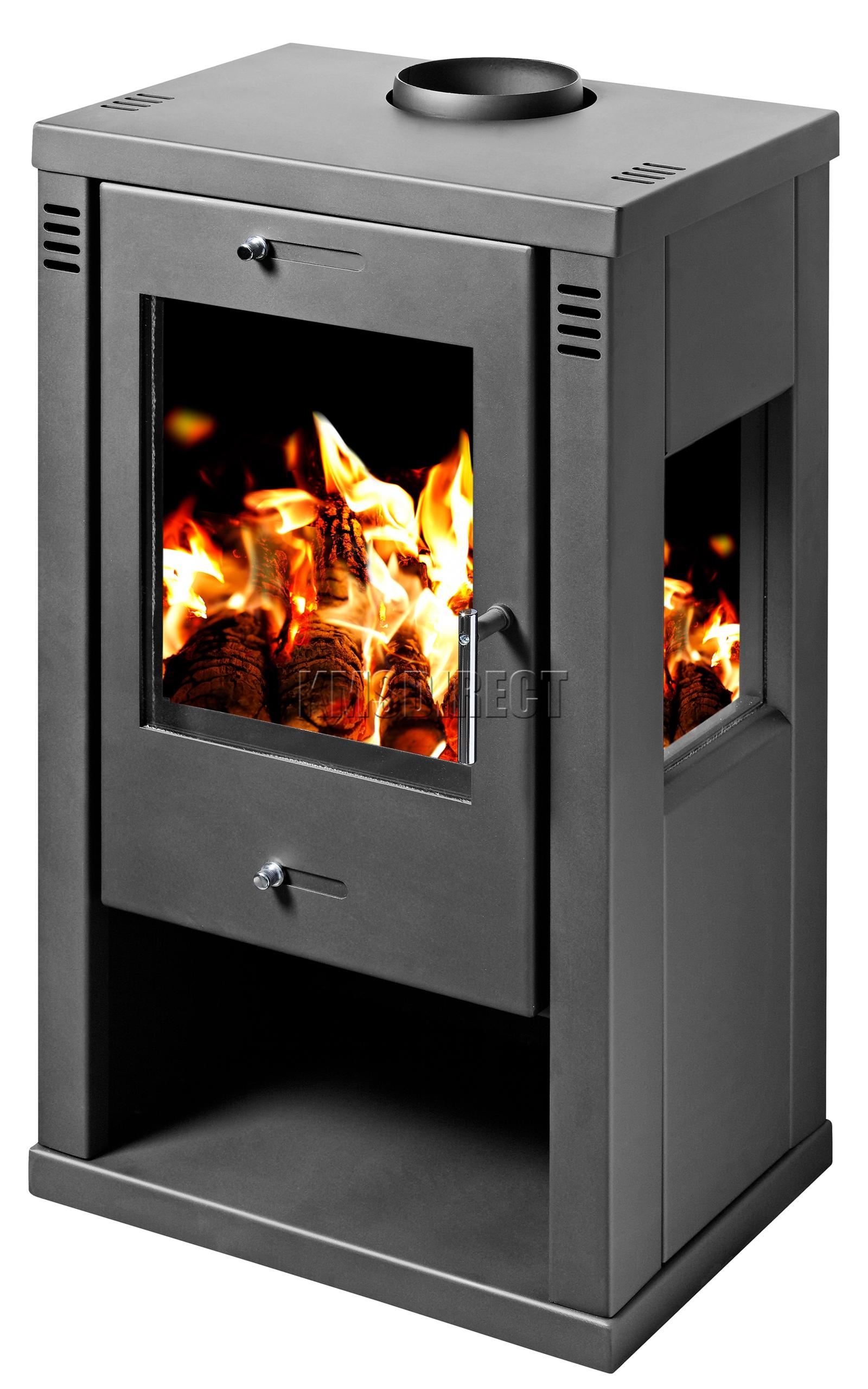 Tulin 7 5kw modern multi fuel wood burning log burner - Holzofen modern ...