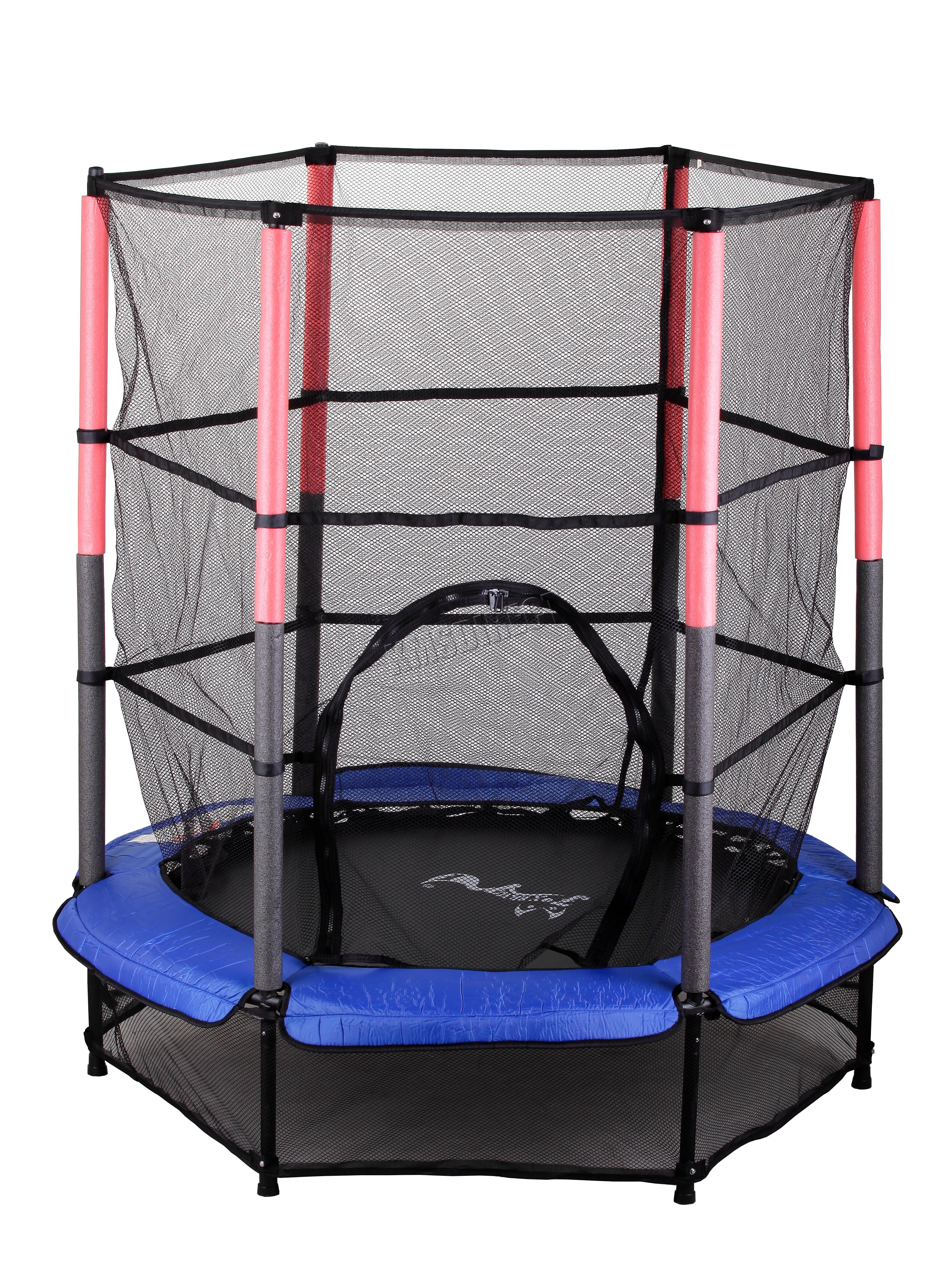 4-5FT-8FT-10FT-12FT-14FT-16FT-Trampoline-With-Ladder-Rain-Cover-Enclosure-Net