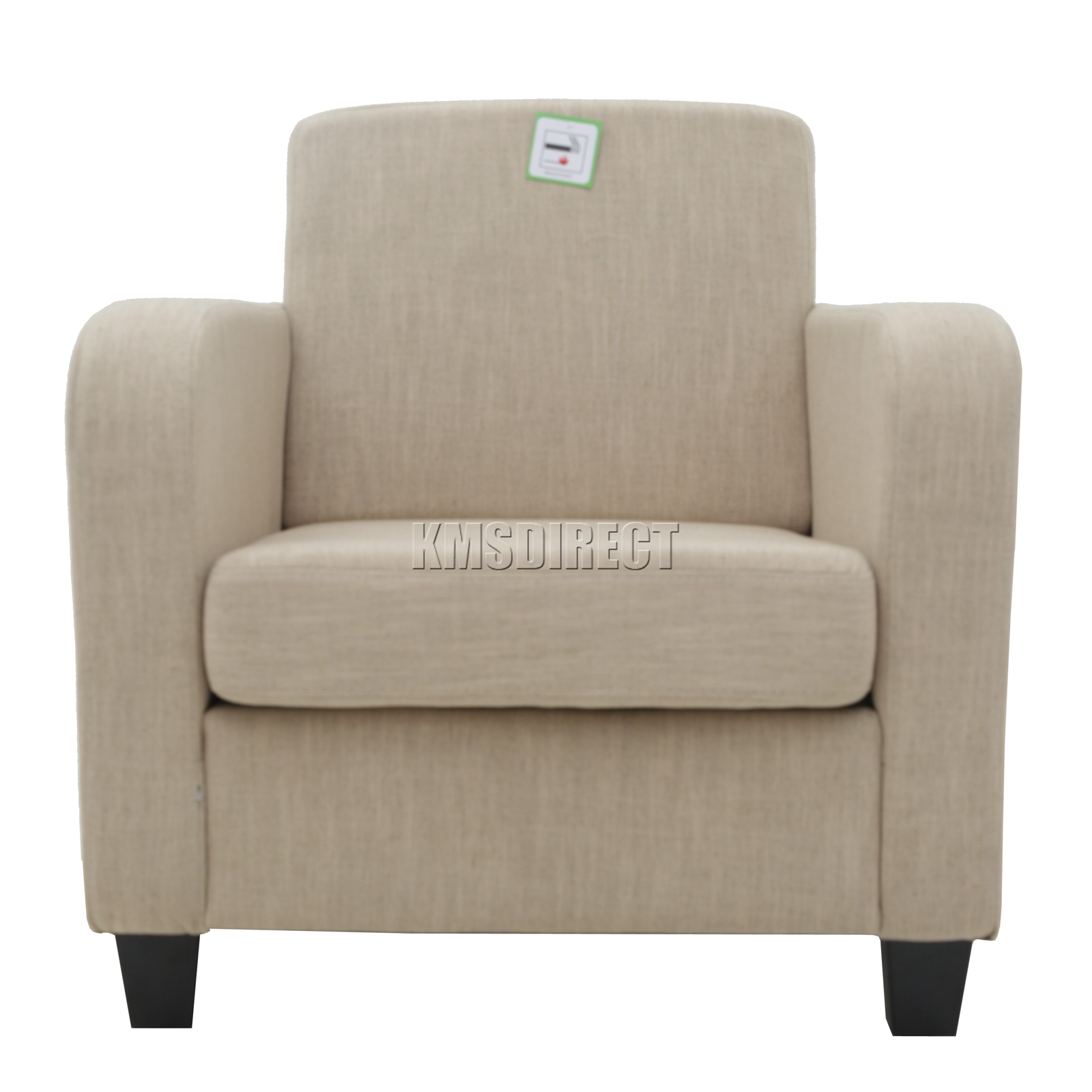 Foxhunter cream linen fabric tub chair armchair dining - Contemporary chairs for living room uk ...