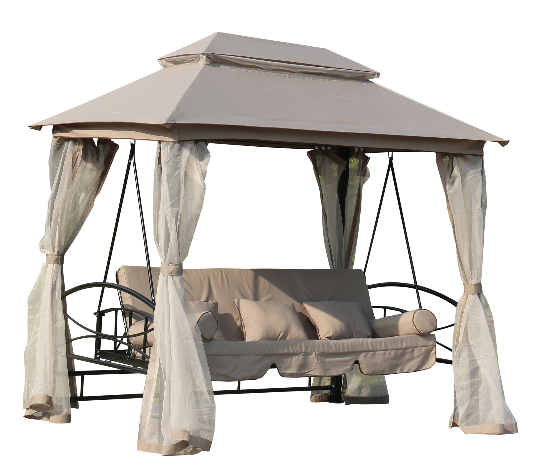 foxhunter garten swing h ngematte 3 4 sitzer stuhl tisch bett gartenlaube au en ebay. Black Bedroom Furniture Sets. Home Design Ideas