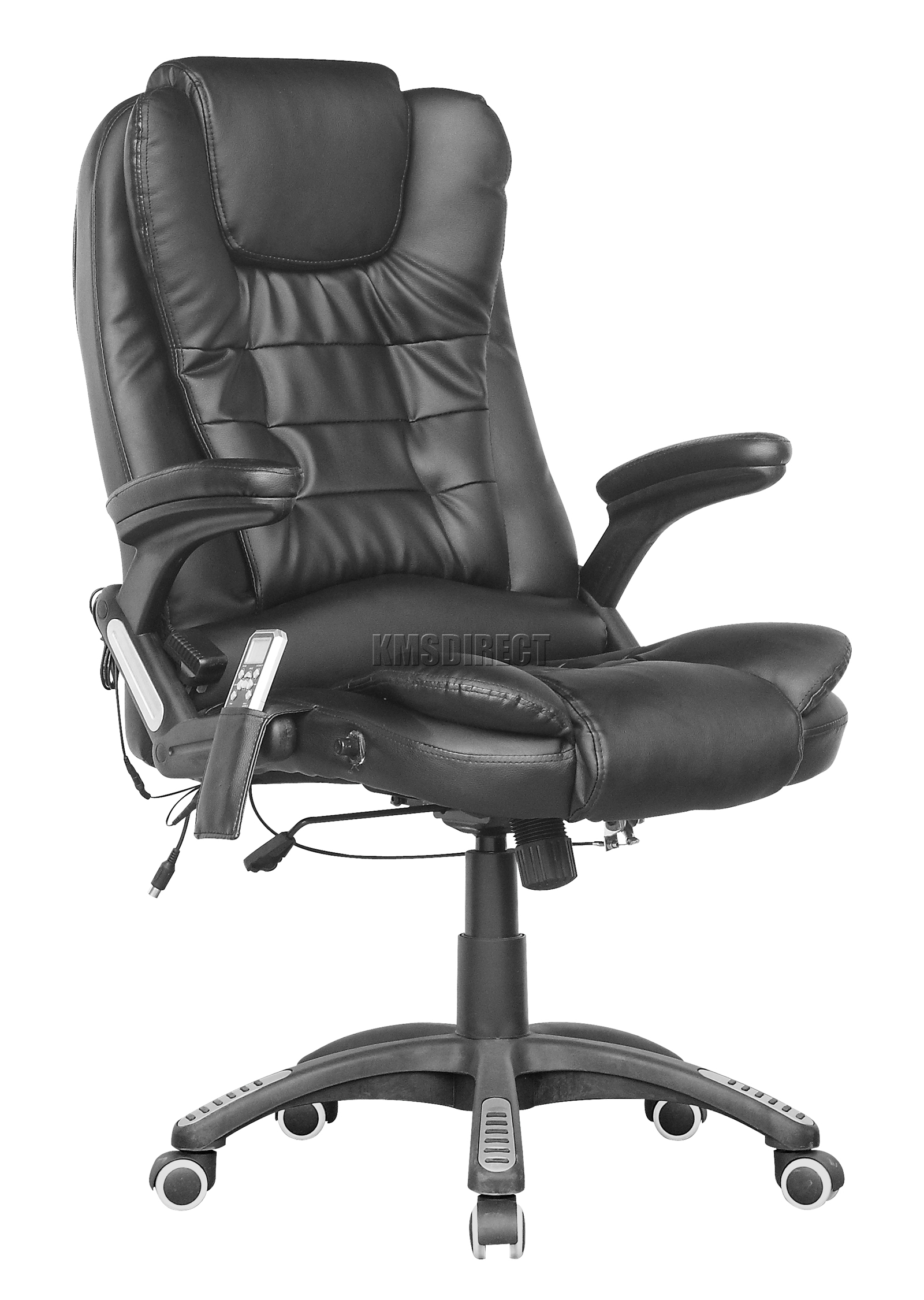 FoxHunter 6 Point Massage fice puter Chair Luxury Leather