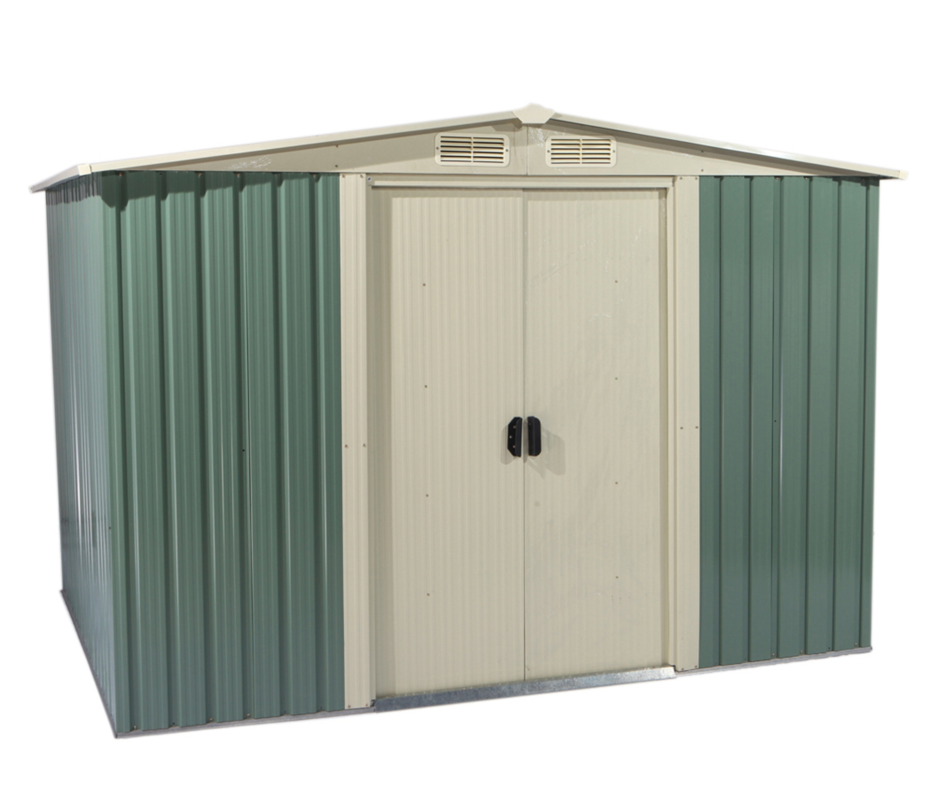 Attrayant Foxhunter Garden Shed Metal Apex 10 X 8ft Outdoor Storage