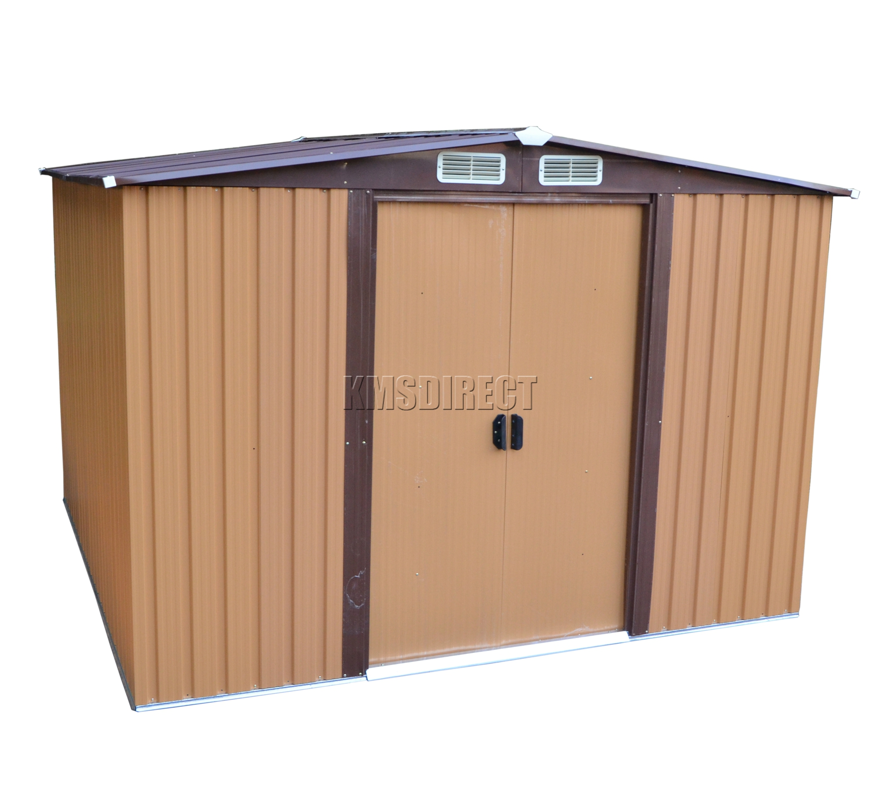 FoxHunter Garden Shed Metal Apex 10 X 8FT Outdoor Storage Foundation  sc 1 st  Najika : door glide a67 - pezcame.com