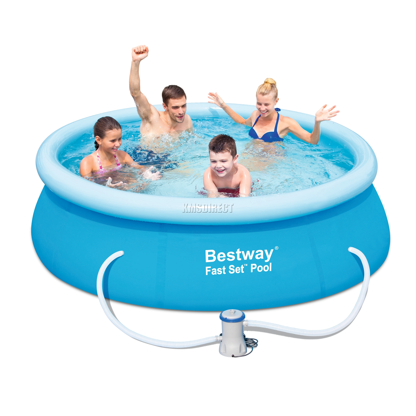 Bestway juego r pido piscina redondo inflable x 66cm for Piscina inflable bestway