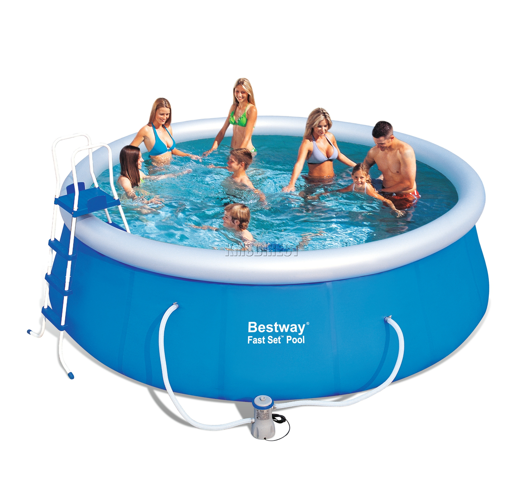 Bestway fast set swimming pool round inflatable 15ft x for Bestway pool obi