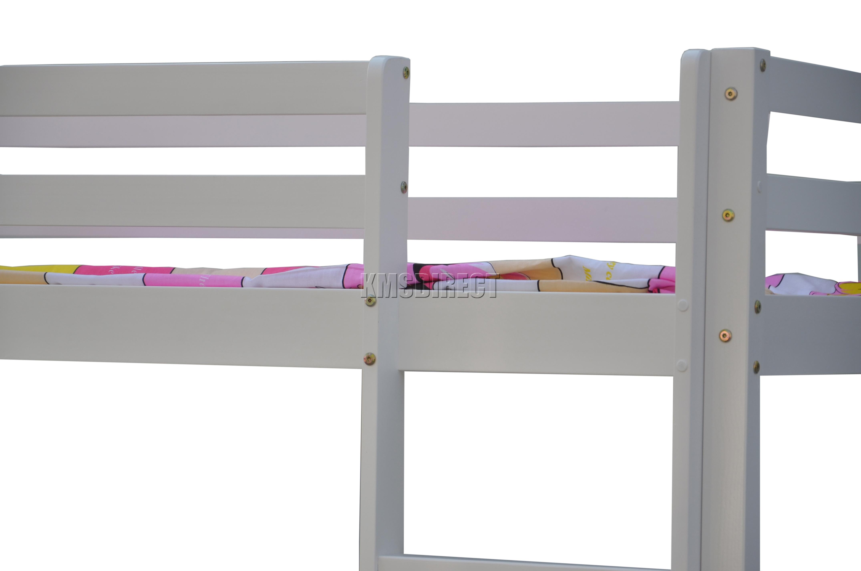 foxhunter haut lit cabine cadre en bois lit superpos mezzanine avec bureau ebay. Black Bedroom Furniture Sets. Home Design Ideas