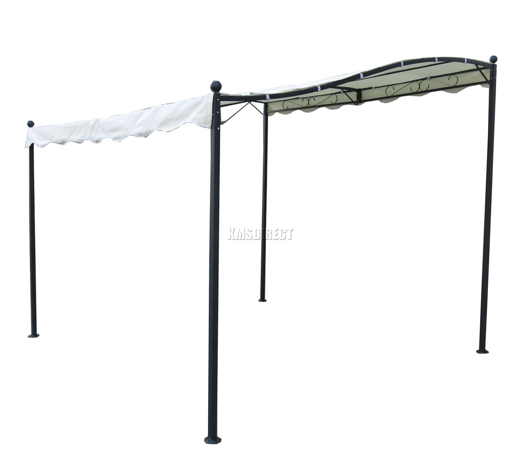 Foxhunter metal wall gazebo awning garden marquee canopy for Carpas para jardin