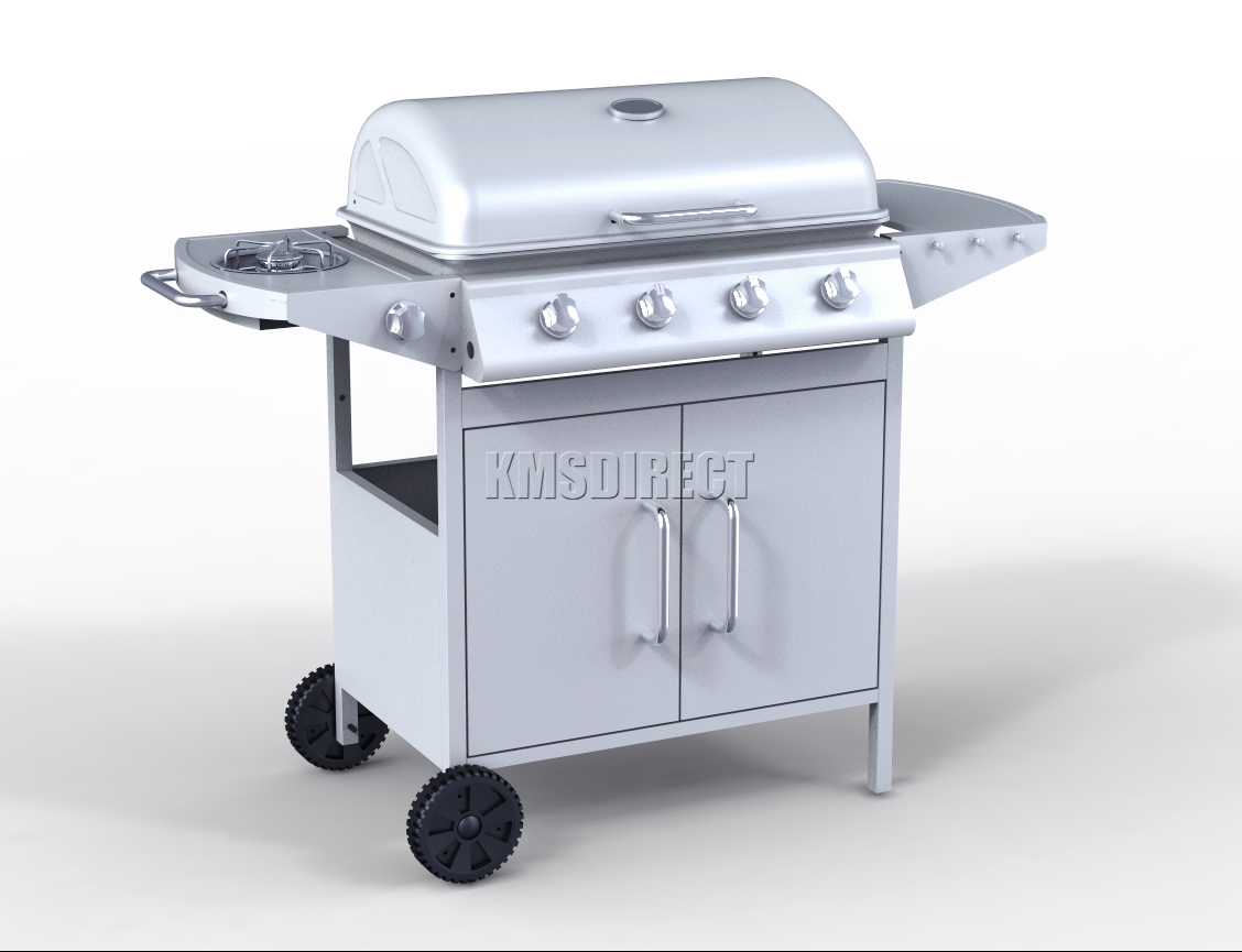 Foxhunter g d burner bbq gas grill stainless steel