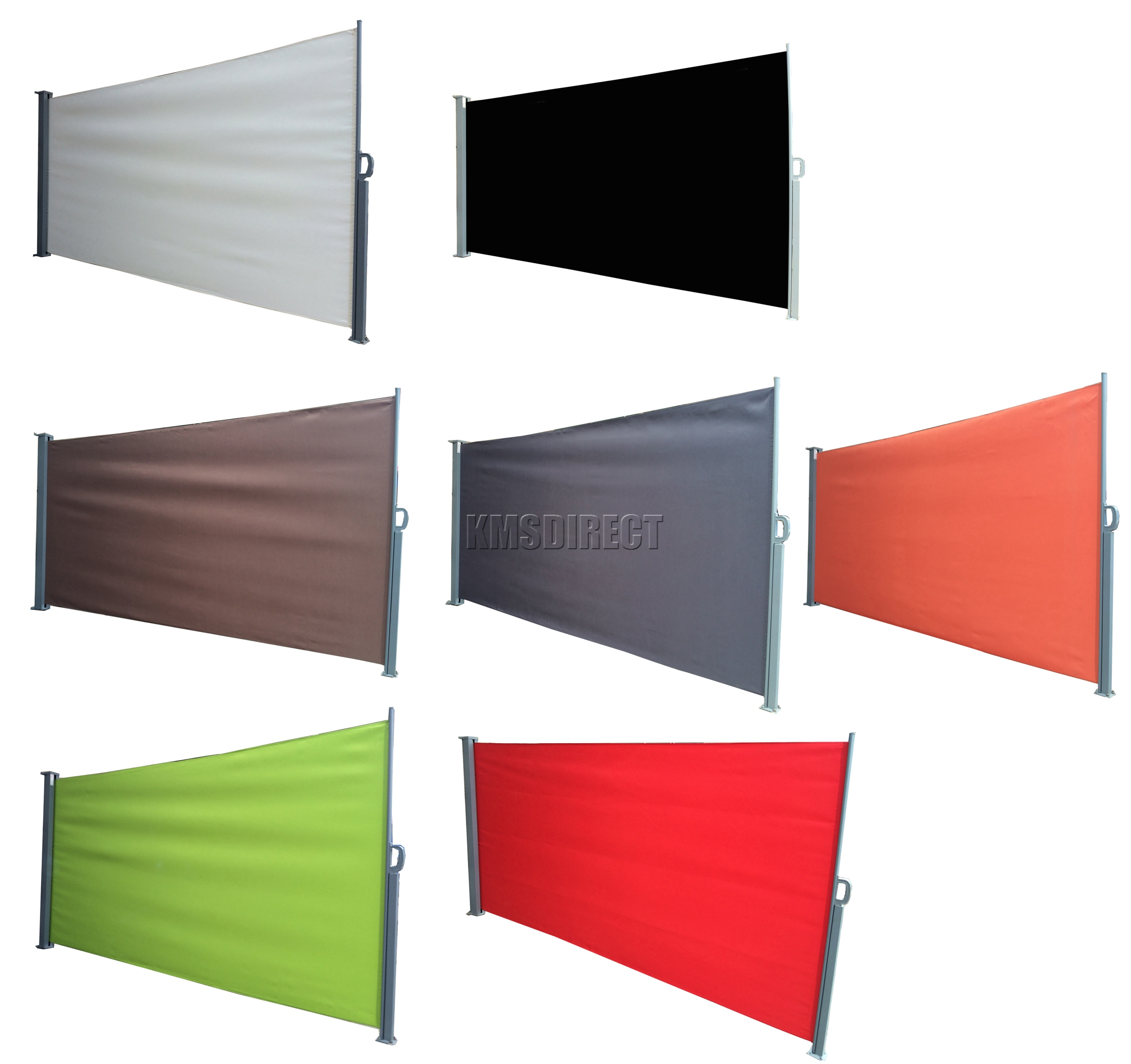 Foxhunter Garden Patio Sunshade Blind Retractable Side