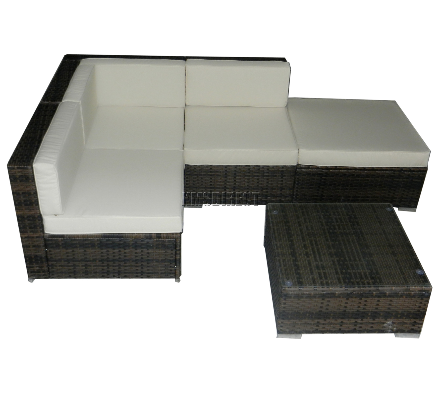 Foxhunter rattan muebles set tabla jard n patio al aire - Muebles rattan exterior ...