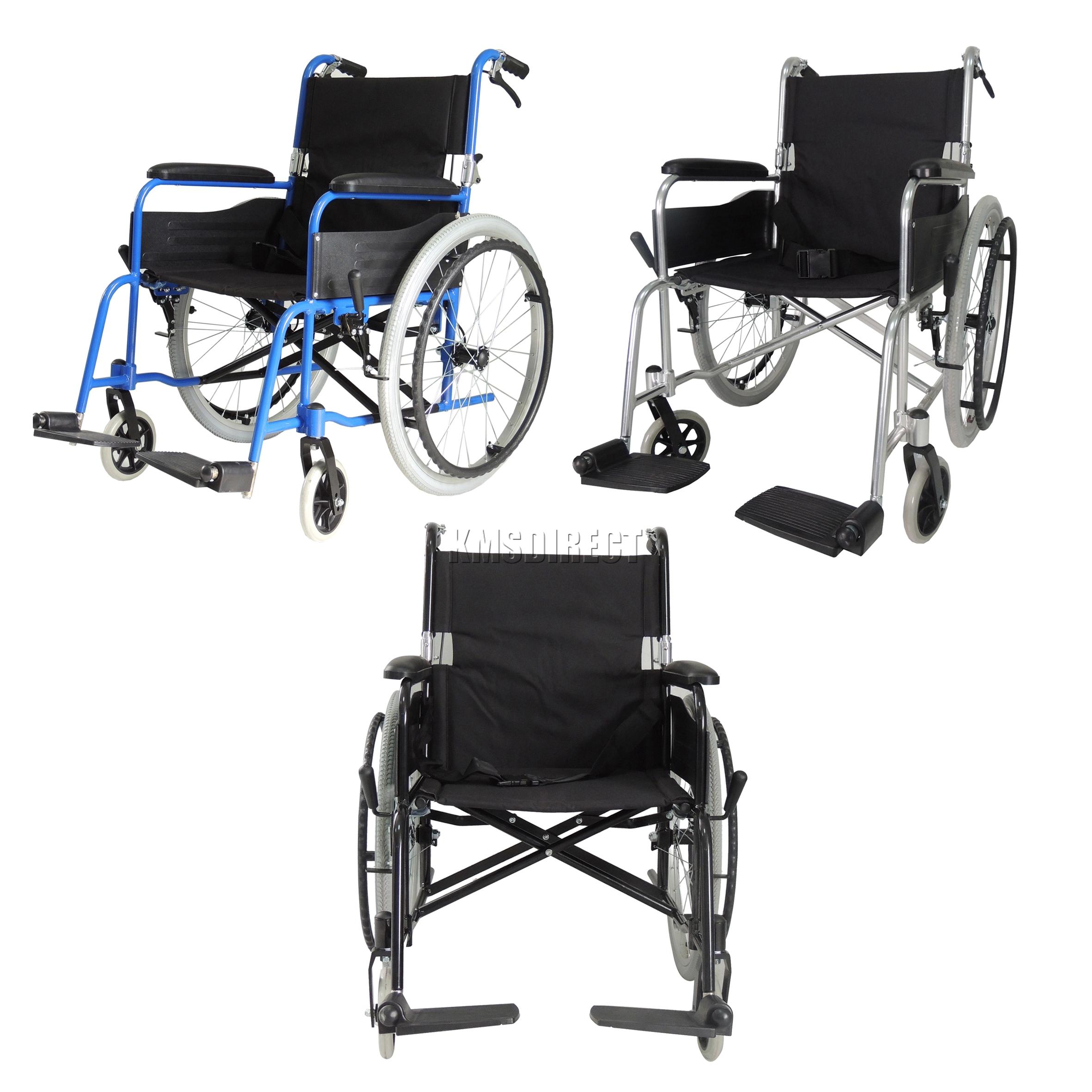 Foxhunter autopropulsadas silla de ruedas plegable ligera for Sedia a rotelle automatica