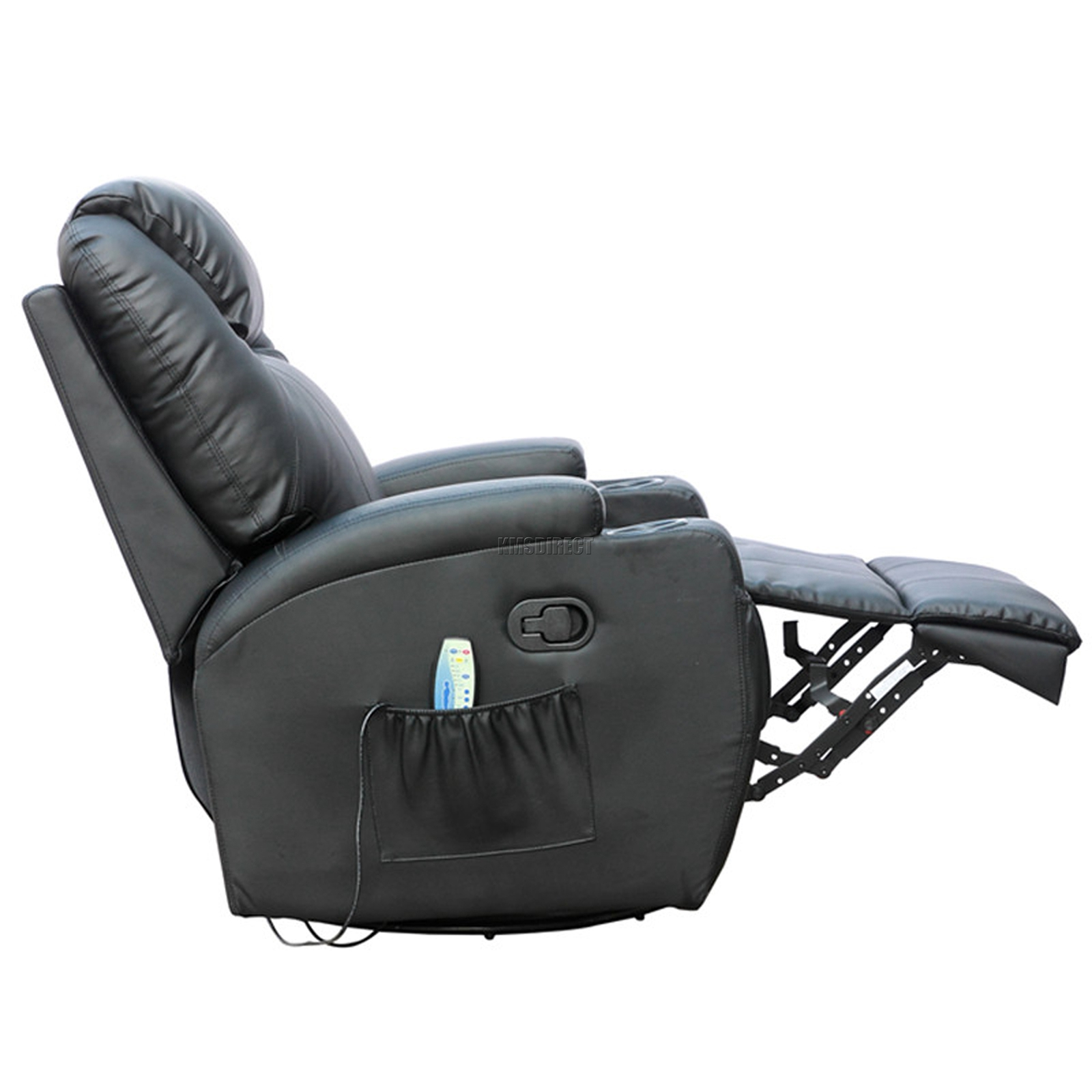 FoxHunter Bonded Leather Massage Recliner Chair Cinema Sofa