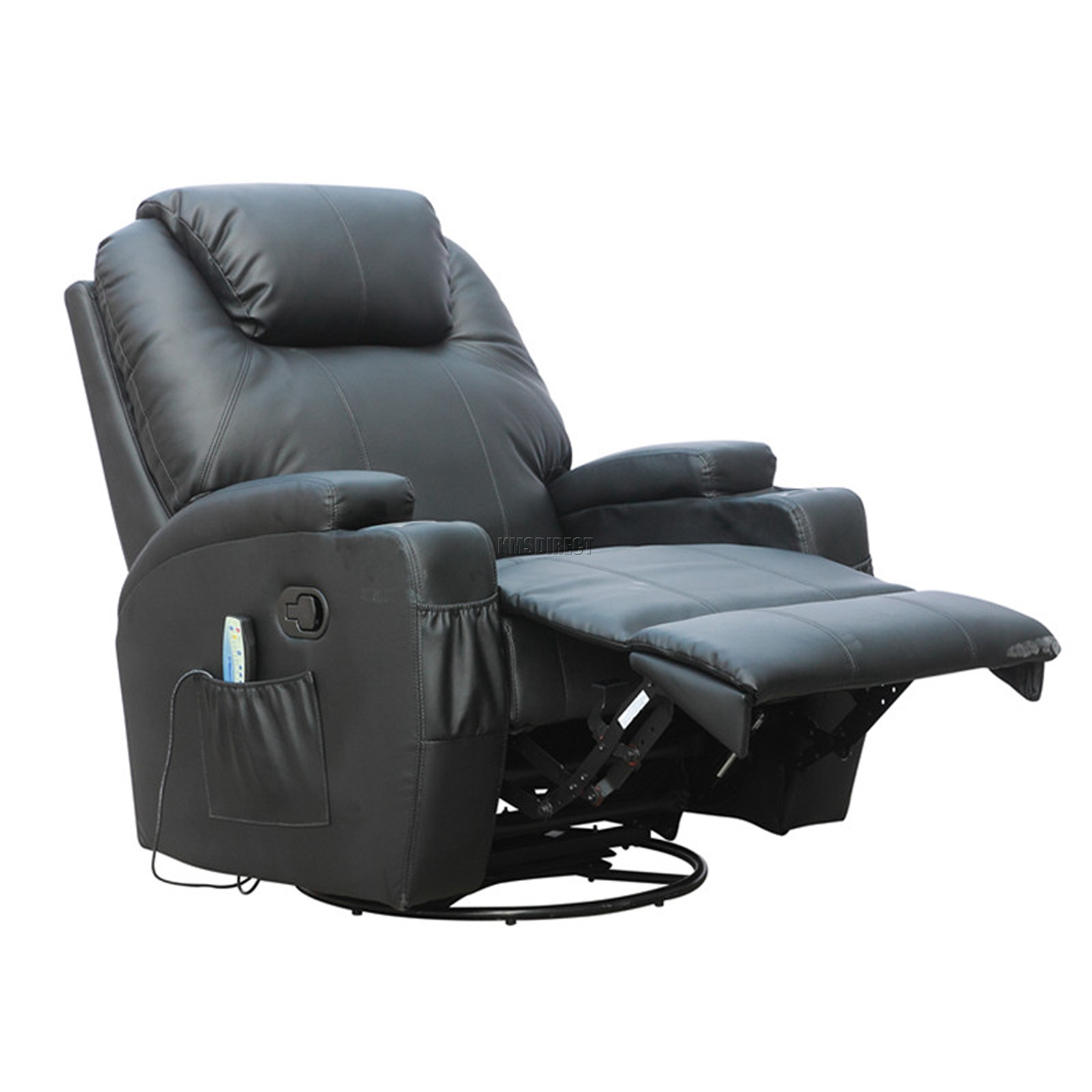 Wonderful FoxHunter Bonded Leather Sofa Massage Recliner Chair Swivel