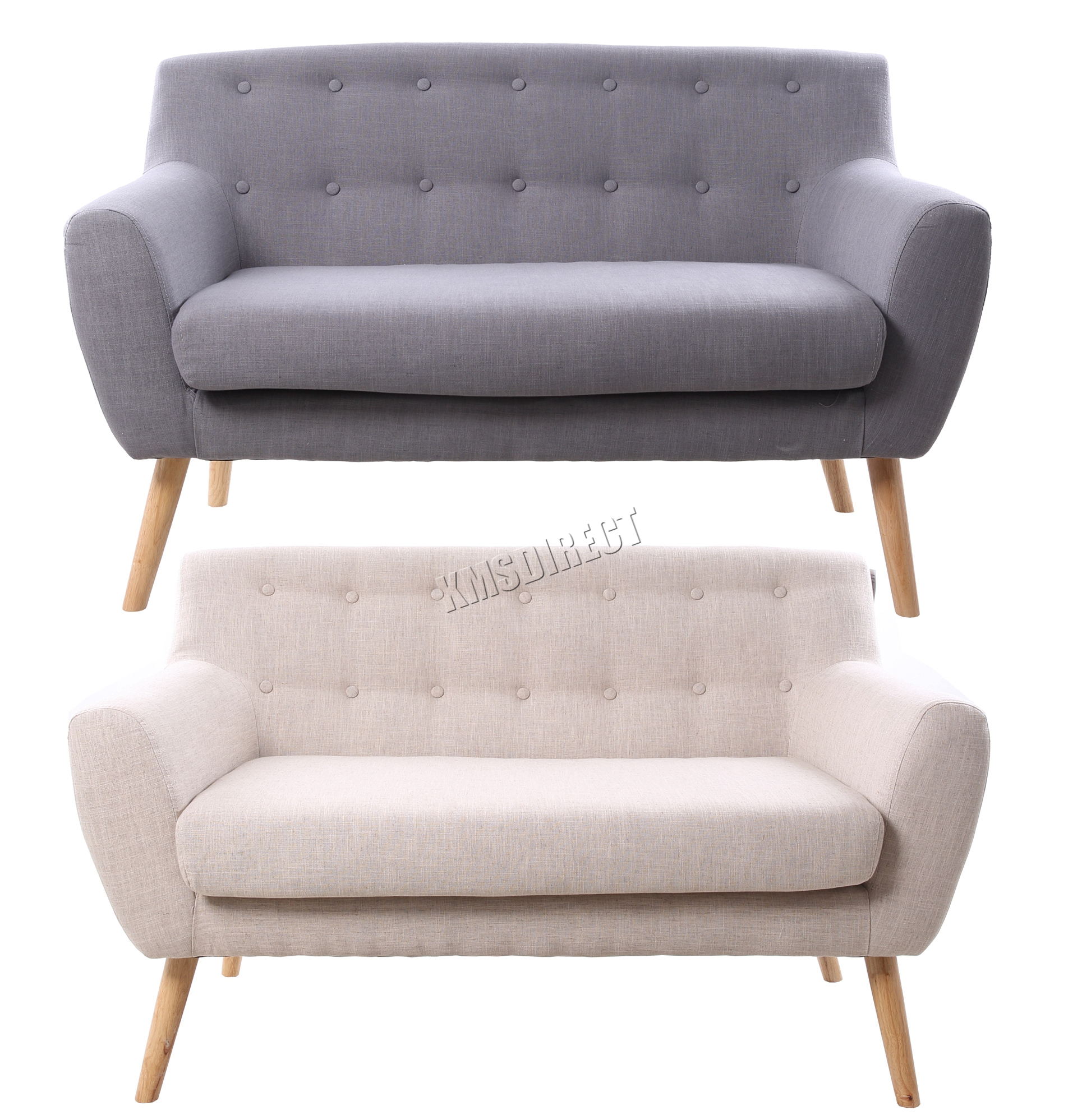 foxhunter leinenstoff 2 sitzer sofa couch esszimmer lounge b ro 2ssf02 neu ebay. Black Bedroom Furniture Sets. Home Design Ideas