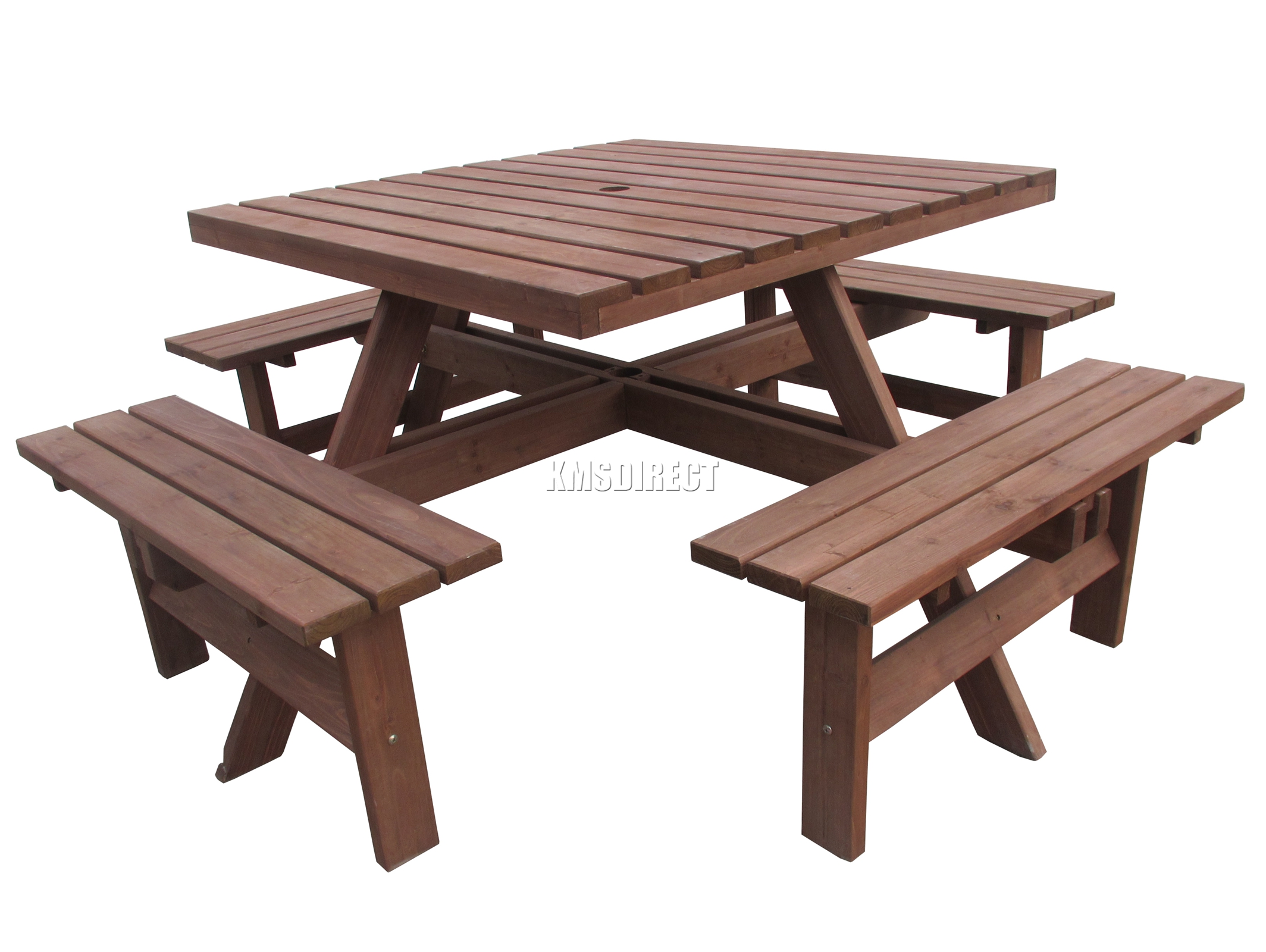 Spare repair brown 8 seater wooden pub bench square 01 for 12 seater wooden outdoor table