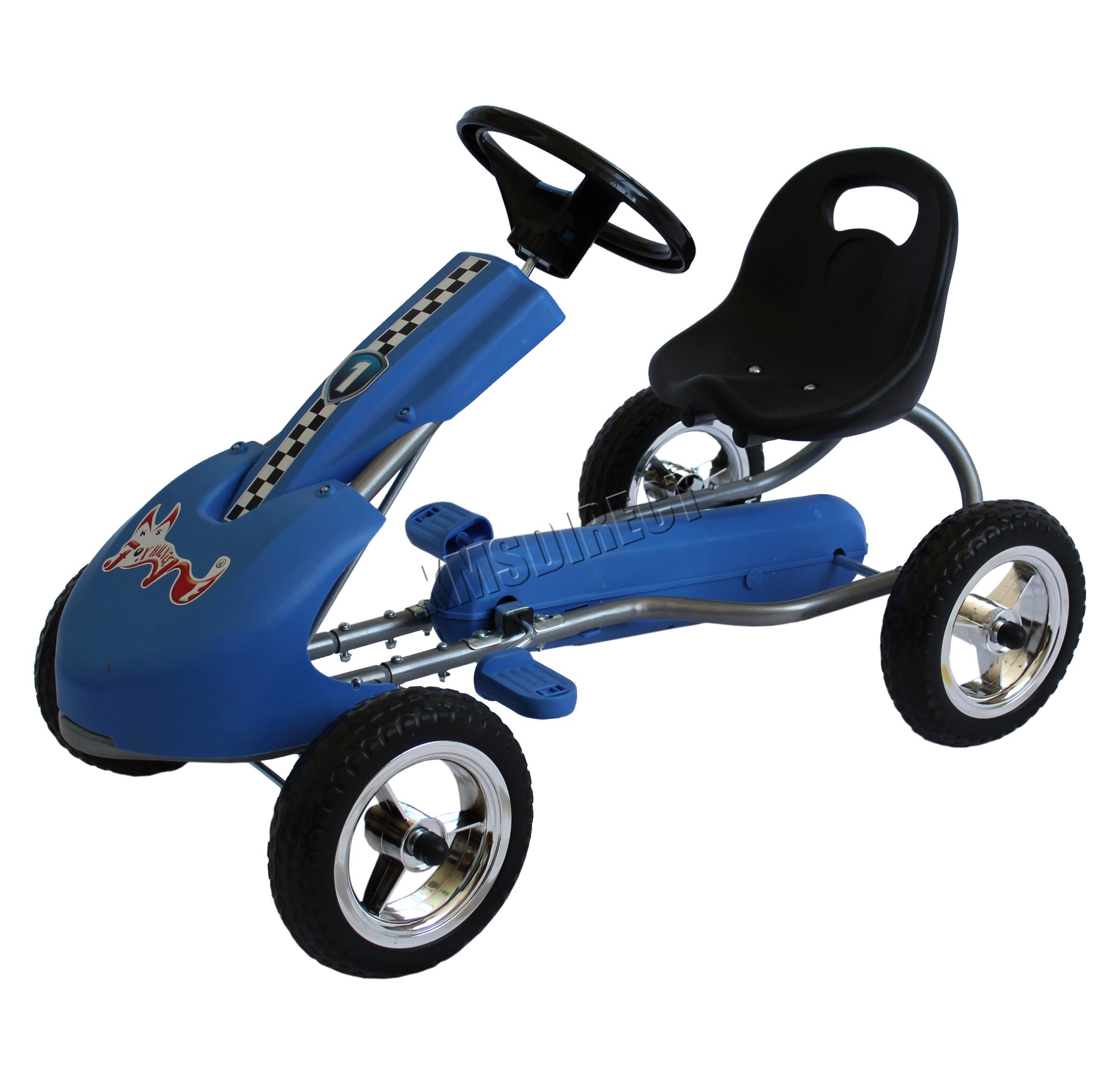 foxhunter kids go kart ride on car with pedal plastic wheels adjustable seat new ebay. Black Bedroom Furniture Sets. Home Design Ideas