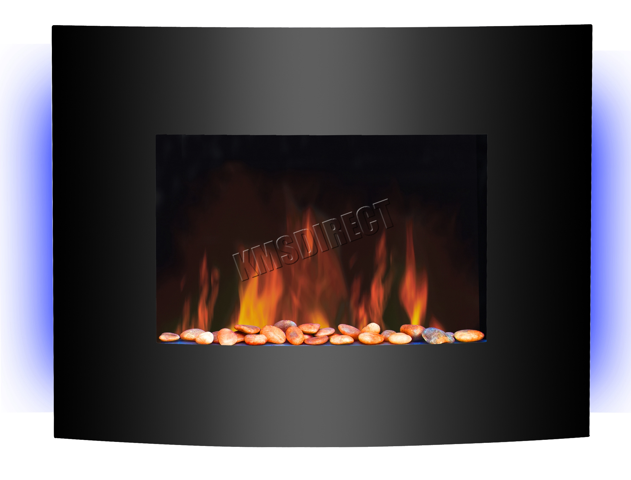 support mural lectrique chemin e radiateur verre t l commande led r tro clair ebay. Black Bedroom Furniture Sets. Home Design Ideas