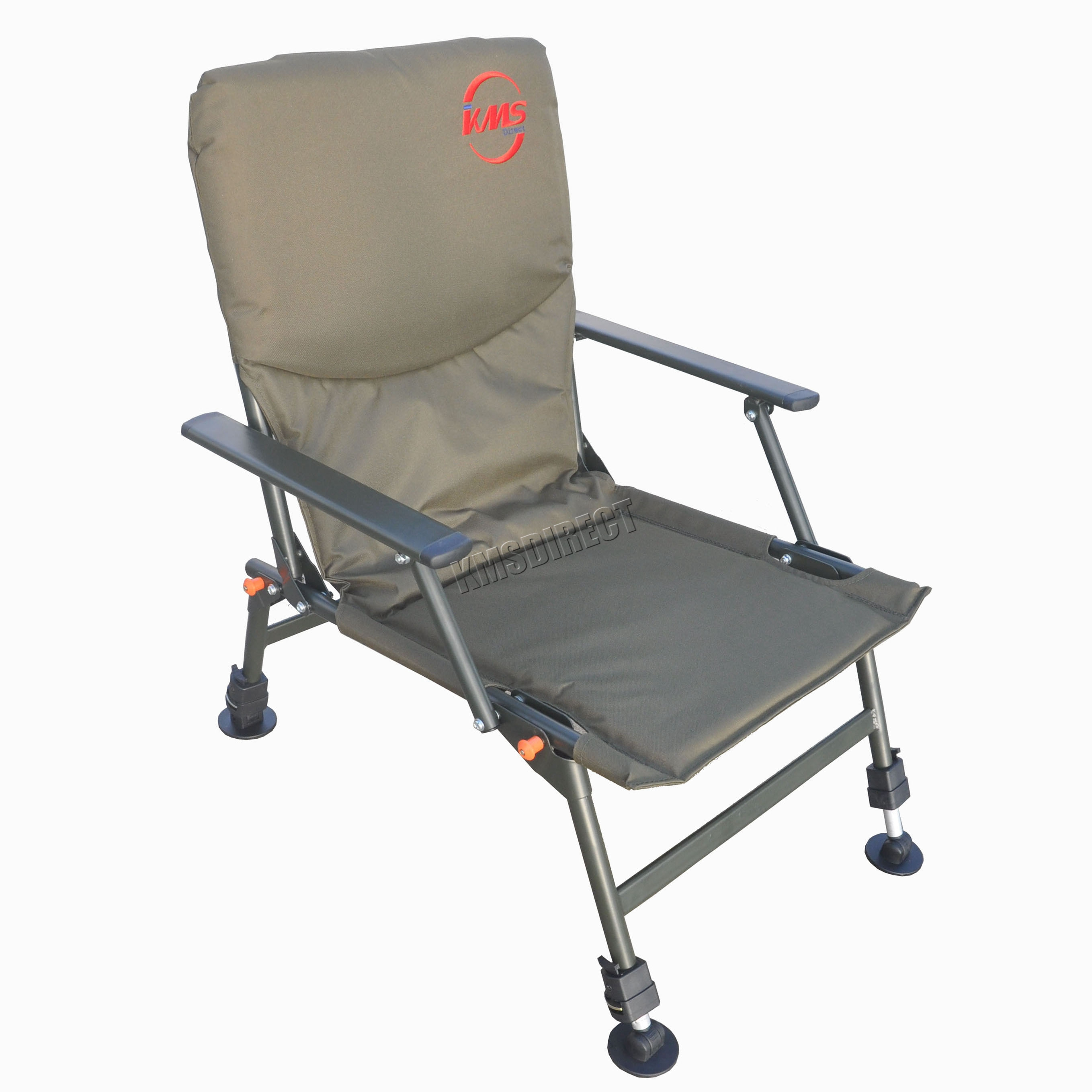 Portable Folding Carp Fishing Chair Camping Heavy Duty 4 Adjustable Legs FC 0