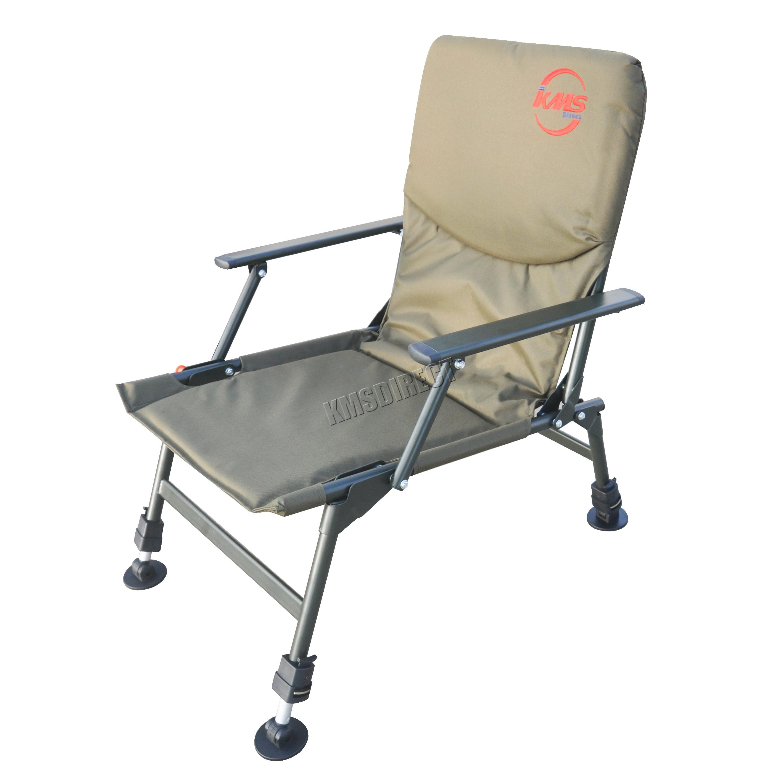Portable Folding Carp Fishing Chair Camping Heavy Duty 4 Adjustable Legs FC 0