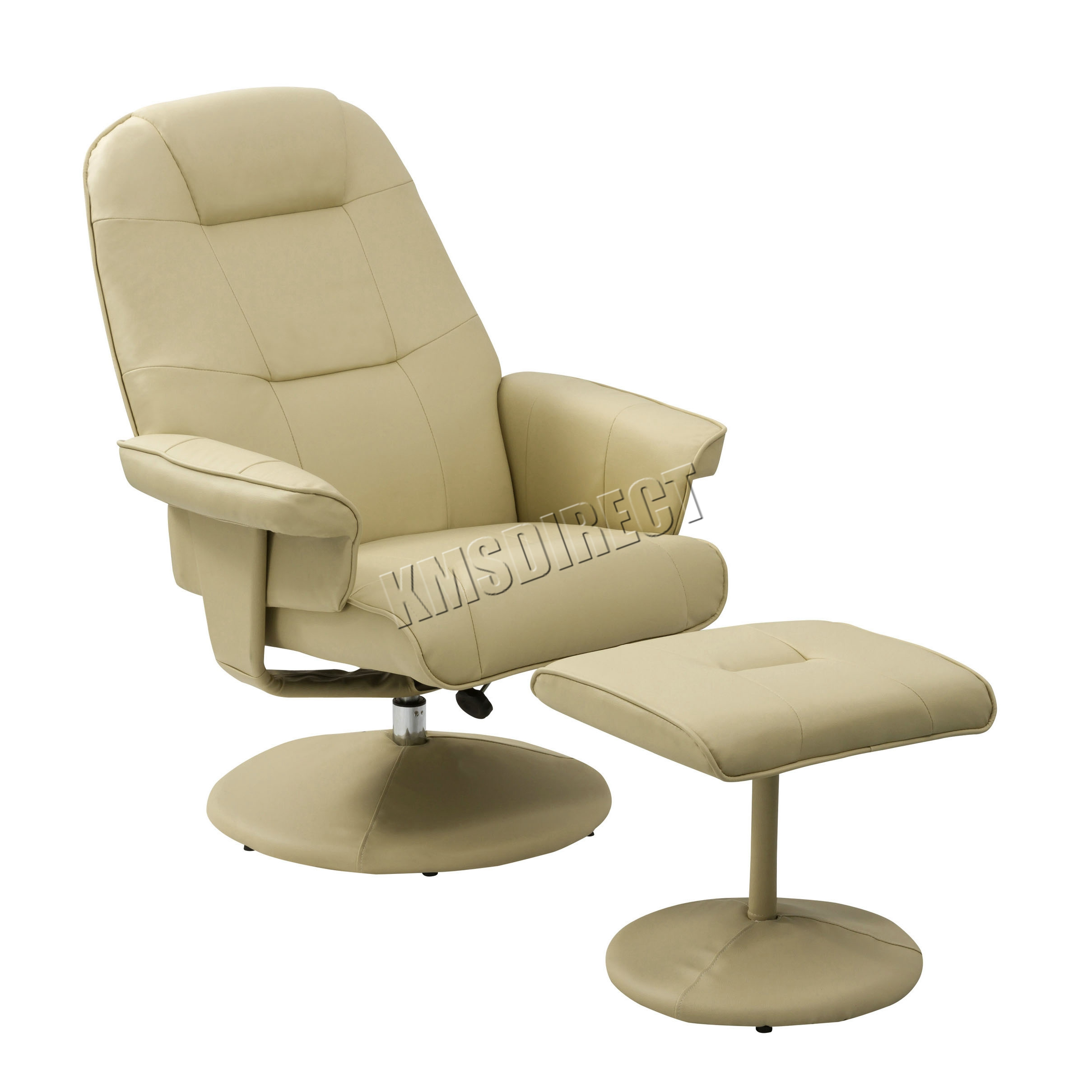 Thumbnail  sc 1 st  eBay & FoxHunter Executive Recliner PU Arm Chair Swivel Lounger Seat Foot ... islam-shia.org