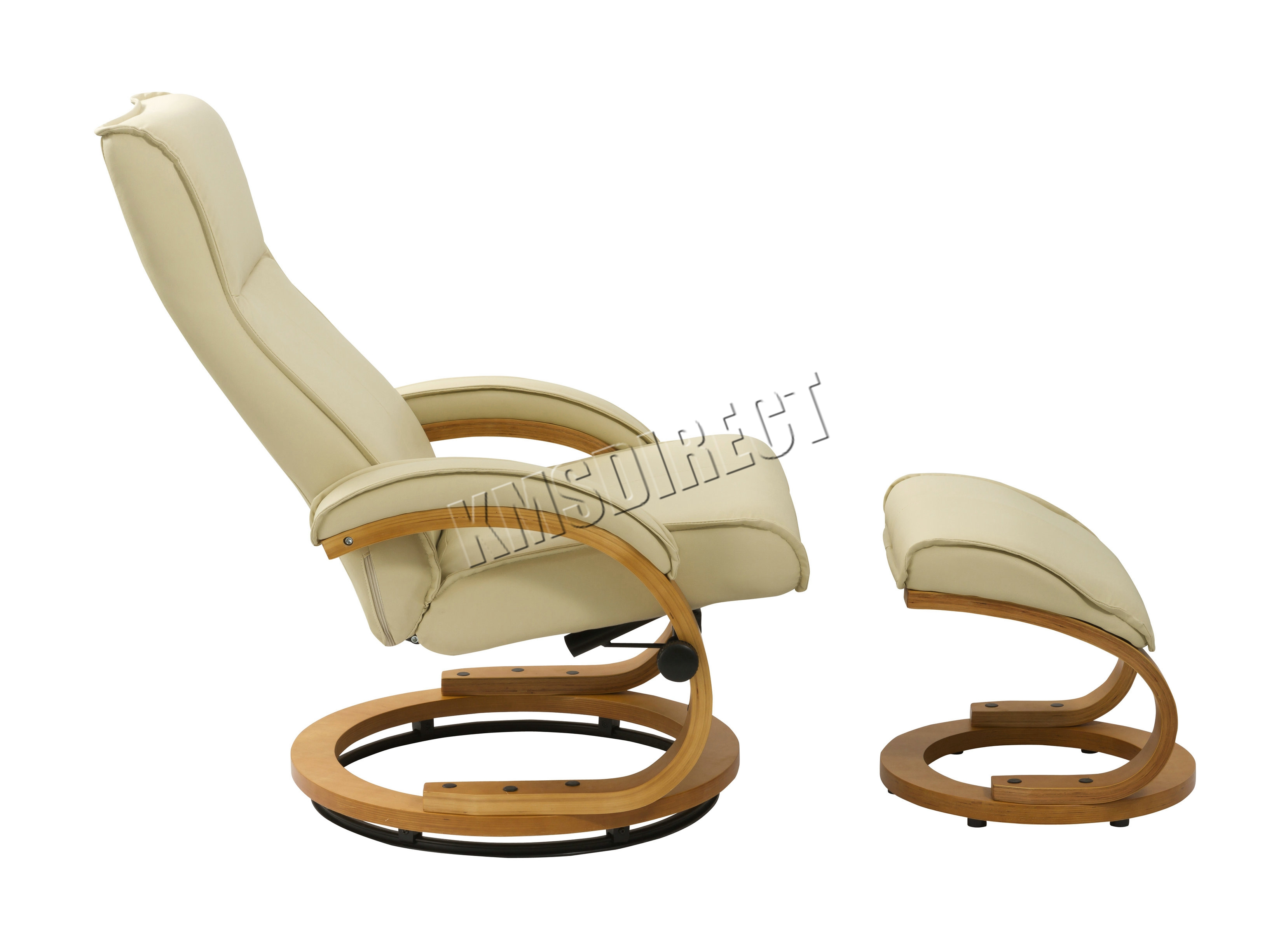 Foxhunter executive recliner pu arm chair swivel lounger seat foot stool rcs03 ebay - Swivel feet for chairs ...