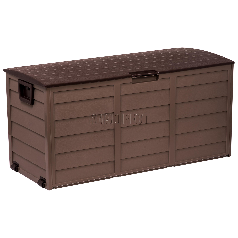 Starplast outdoor garden plastic storage utility chest for Garden storage solutions