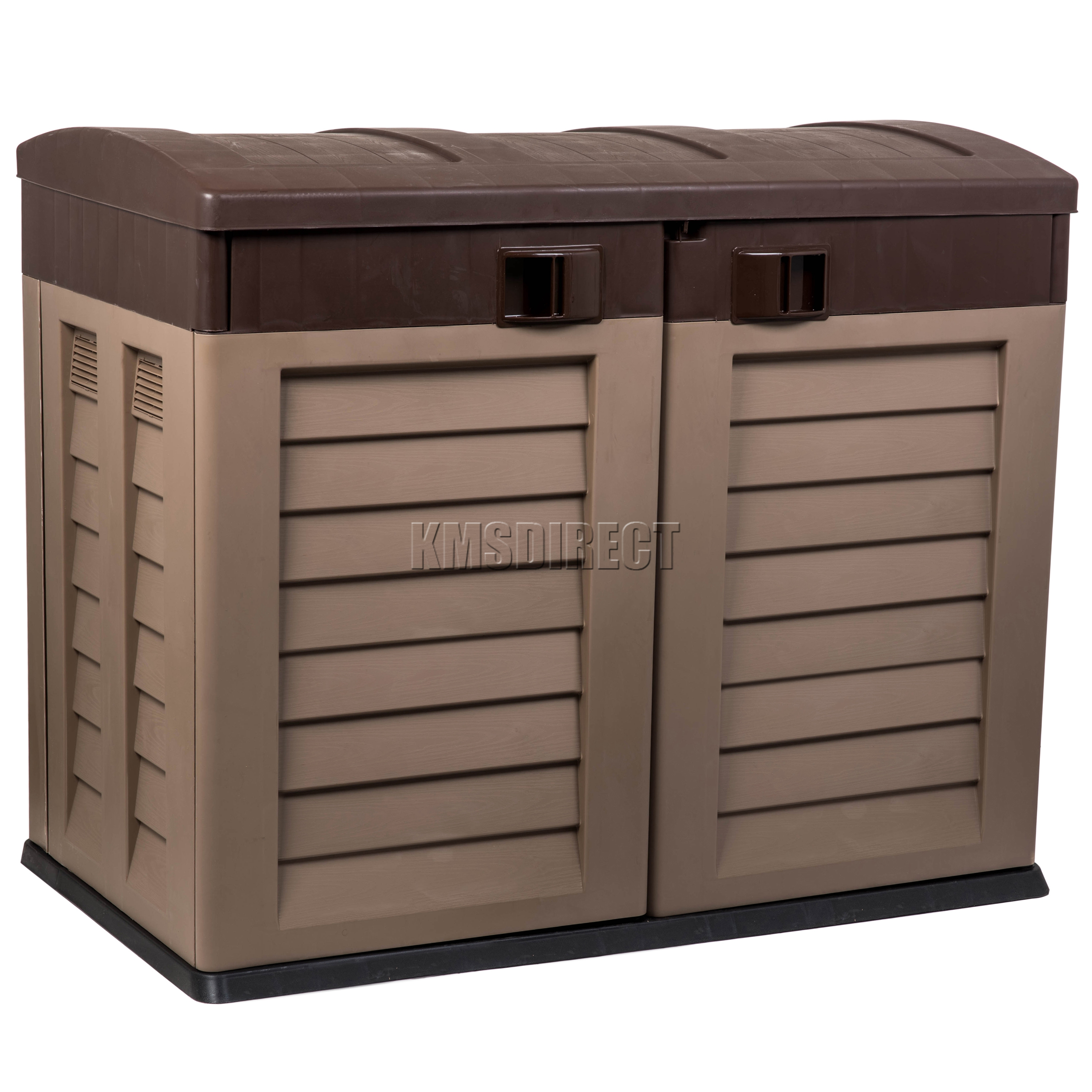 Starplast Outdoor Plastic Garden Low Shed Box Chest