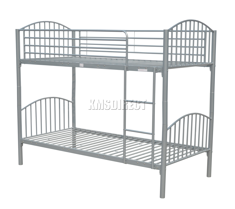 Foxhunter 3ft single metal frame bunk bed children kid for Single bunk bed frame