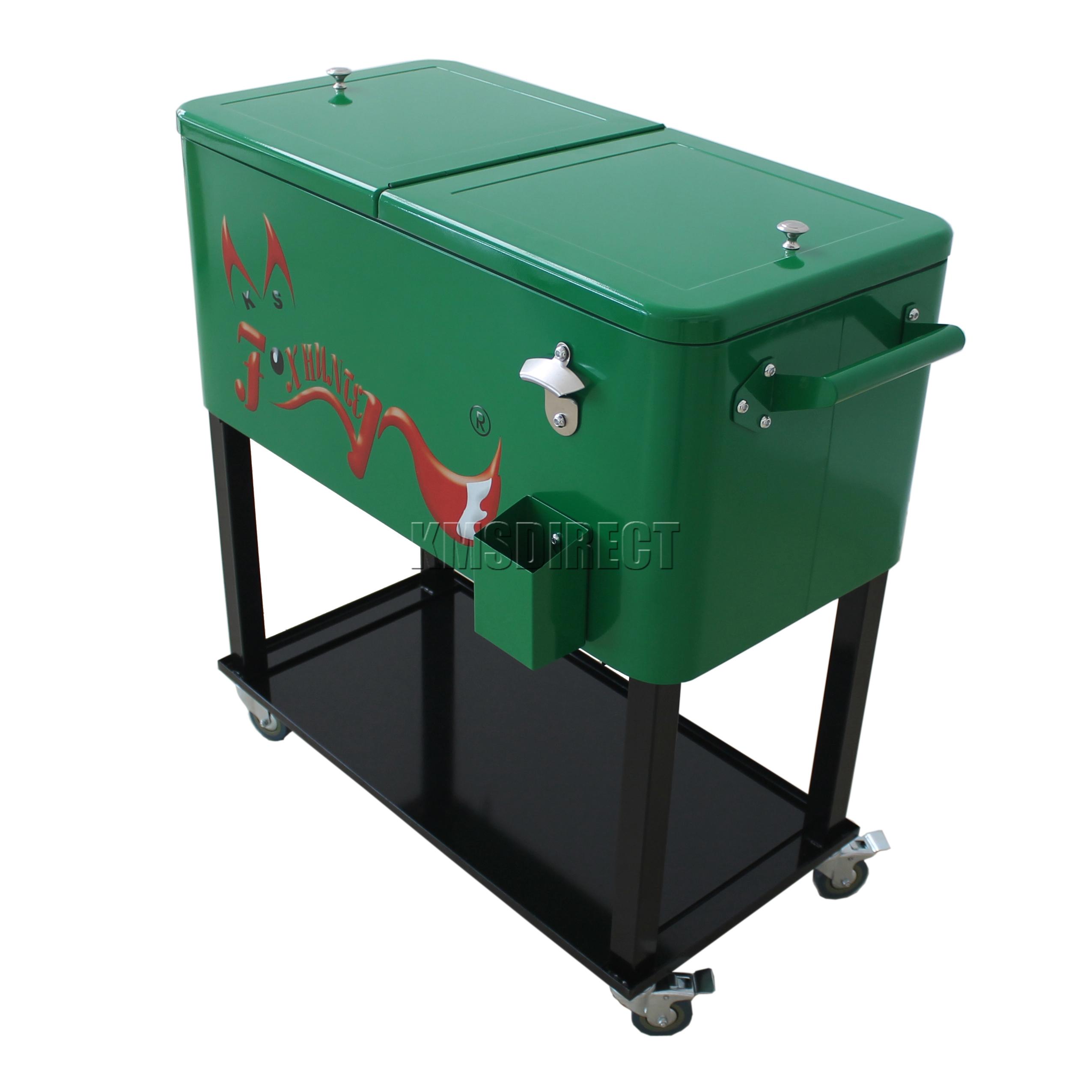 FoxHunter Patio Deck Ice Cooler Rolling Cart Outdoor 65