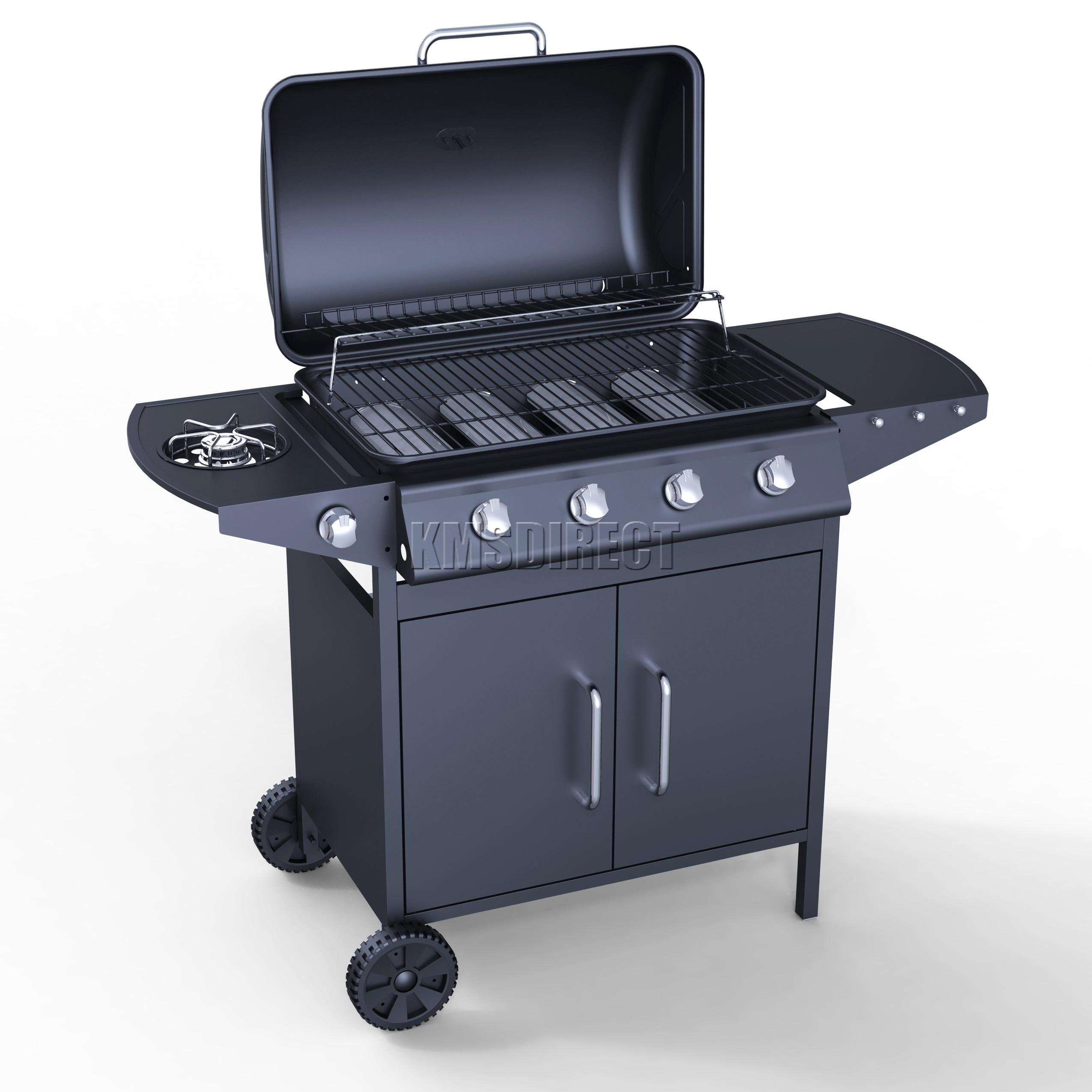 Foxhunter g d burner bbq gas grill black steel