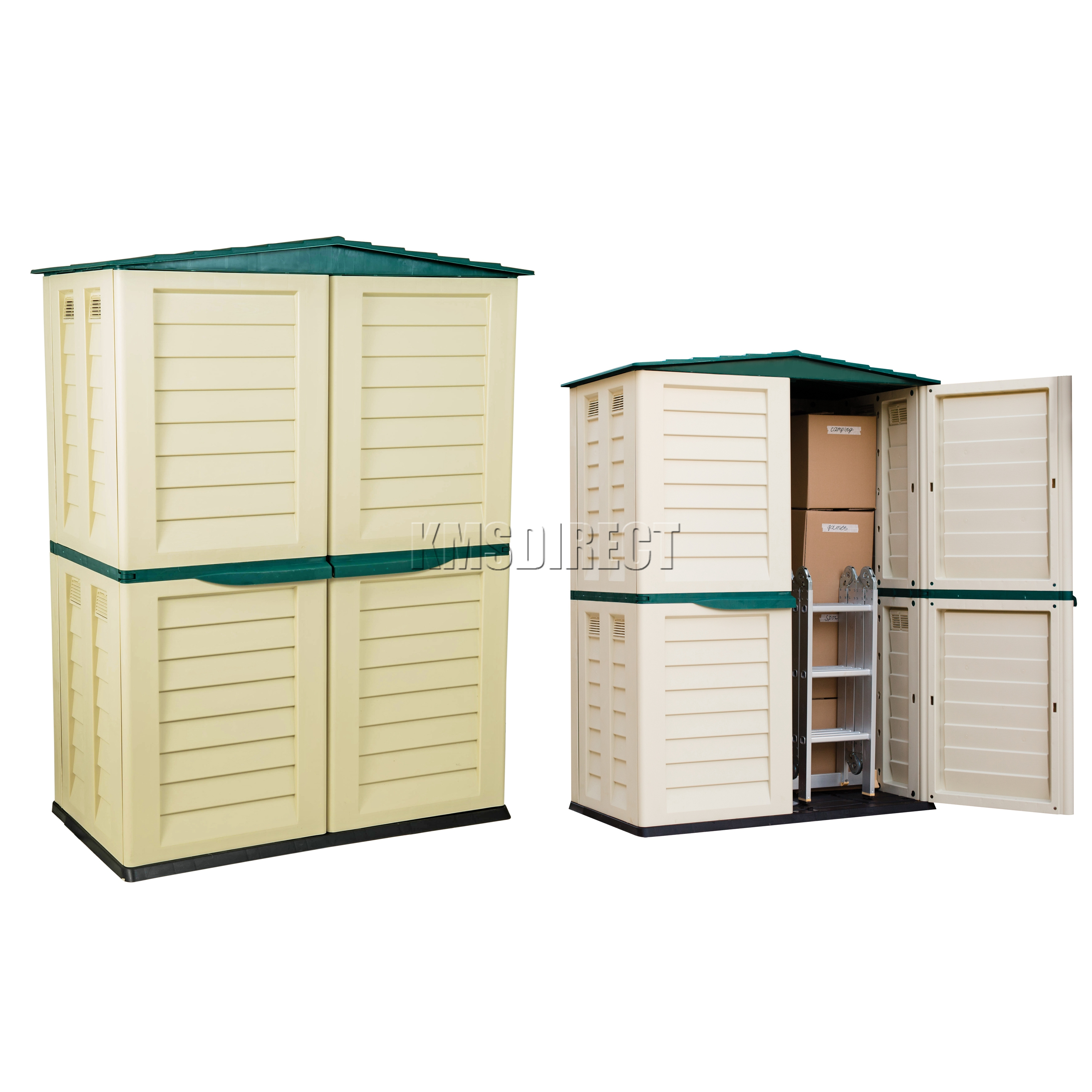 Outside Storage Units: Starplast Outdoor Plastic Garden Tall Shed Box Storage
