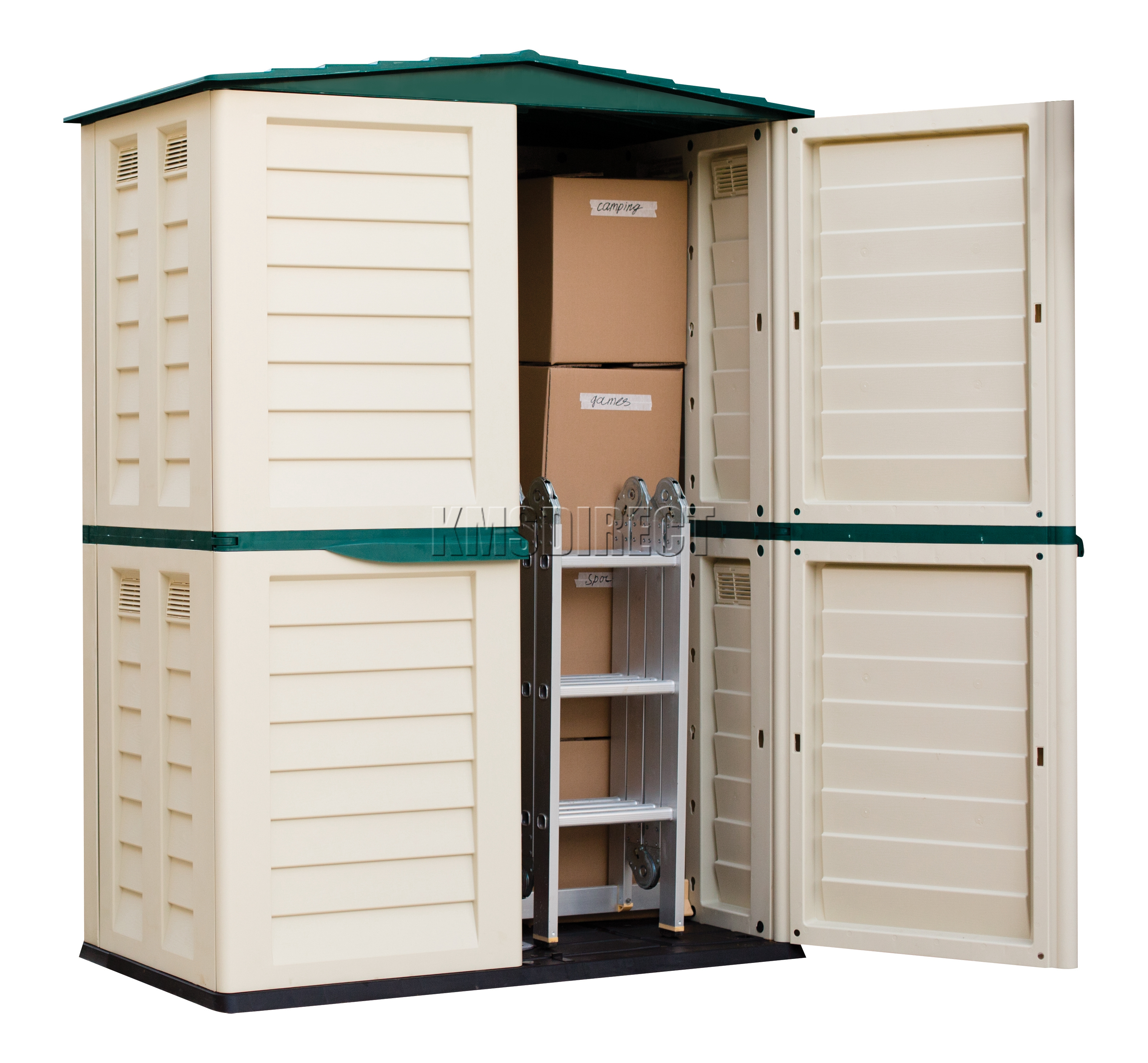 Garden Sheds Jersey Channel Islands starplast outdoor plastic garden tall shed box storage unit 5ft x