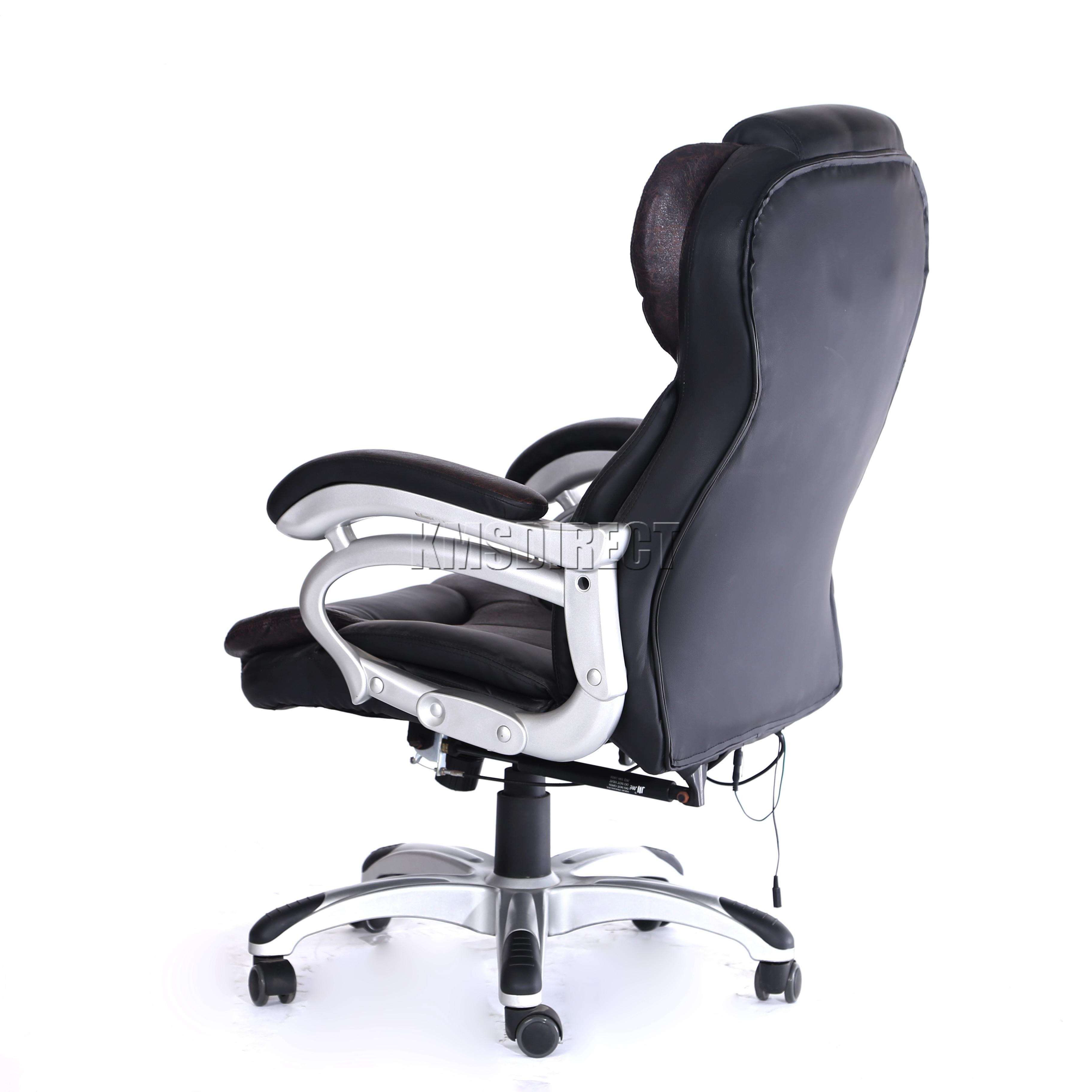 FoxHunter Luxury 6 Point Massage Office Computer Chair Reclining MC8074 Brown