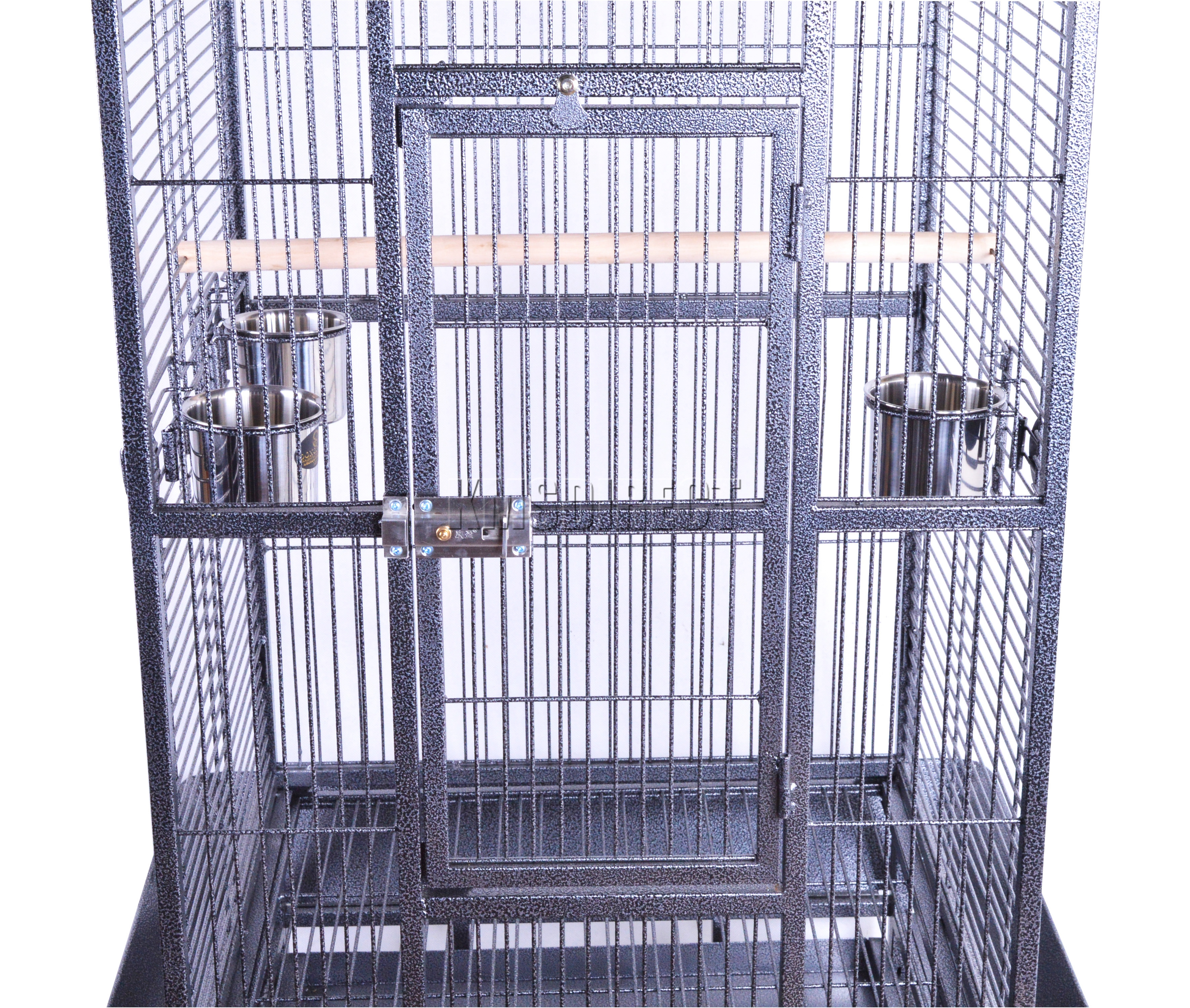 Foxhunter Large Metal Bird Cage With Stand Aviary Parrot