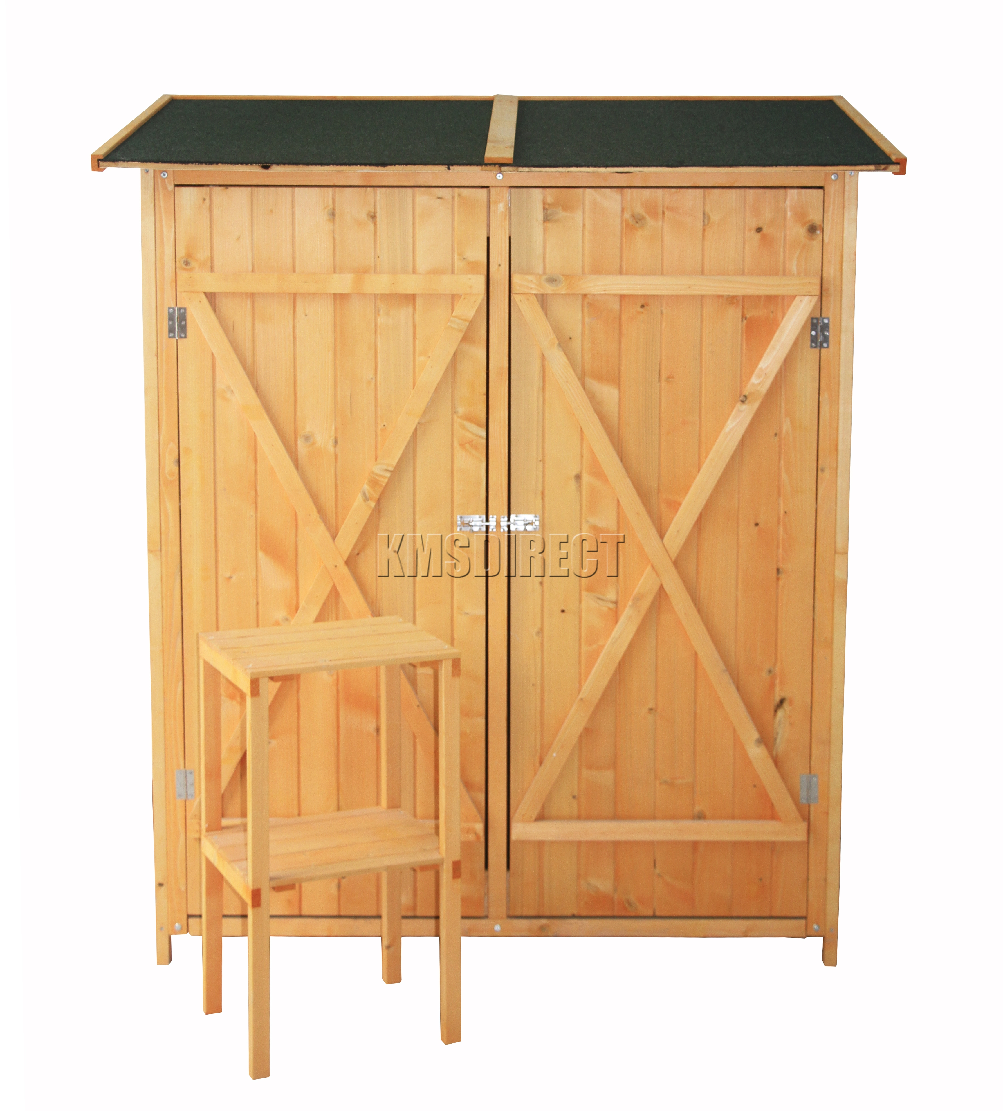 foxhunter patio outdoor garden tool shed wood tool storage