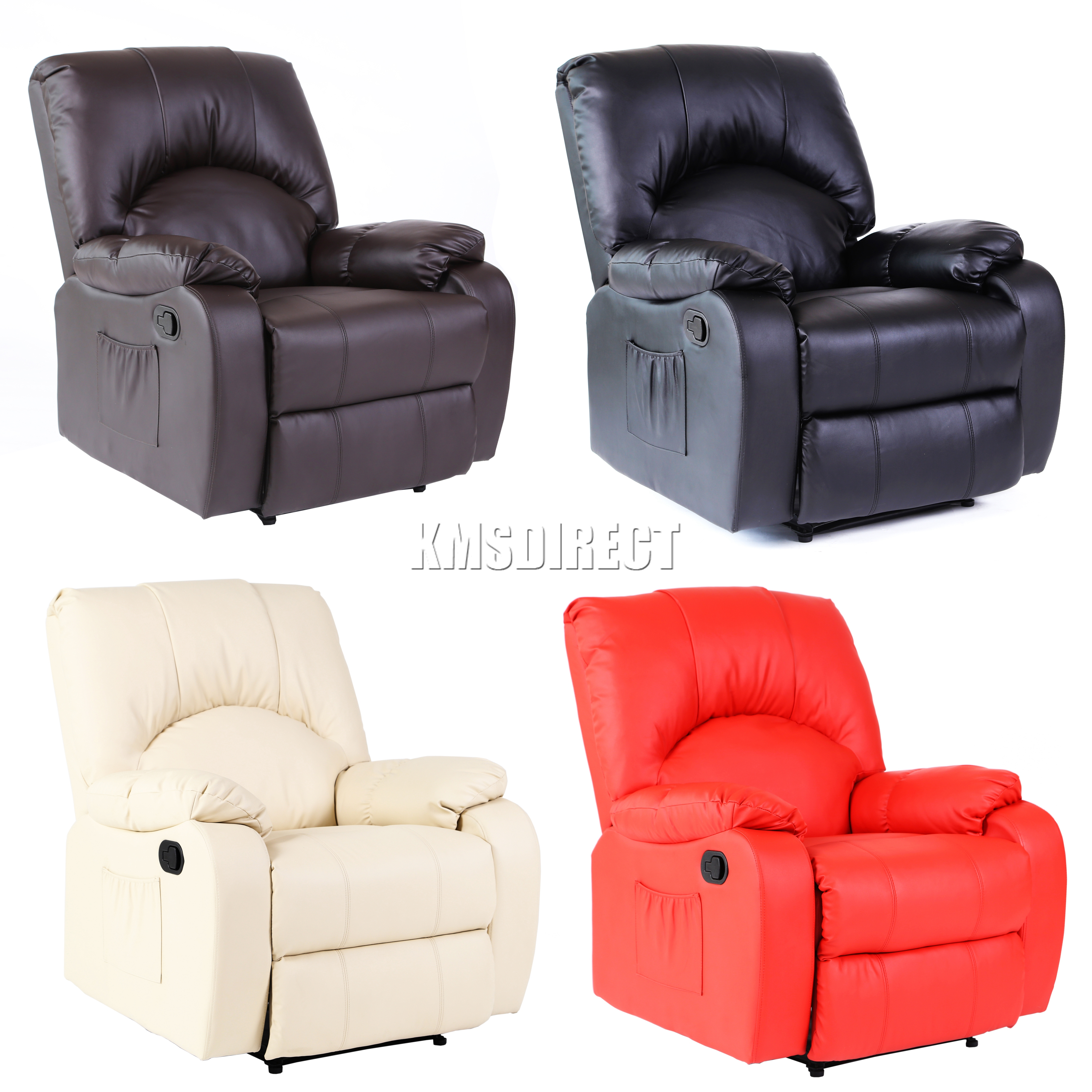 foxhunter cuir massage cinema fauteuil inclinable canap chauffant mls 03 neuf. Black Bedroom Furniture Sets. Home Design Ideas