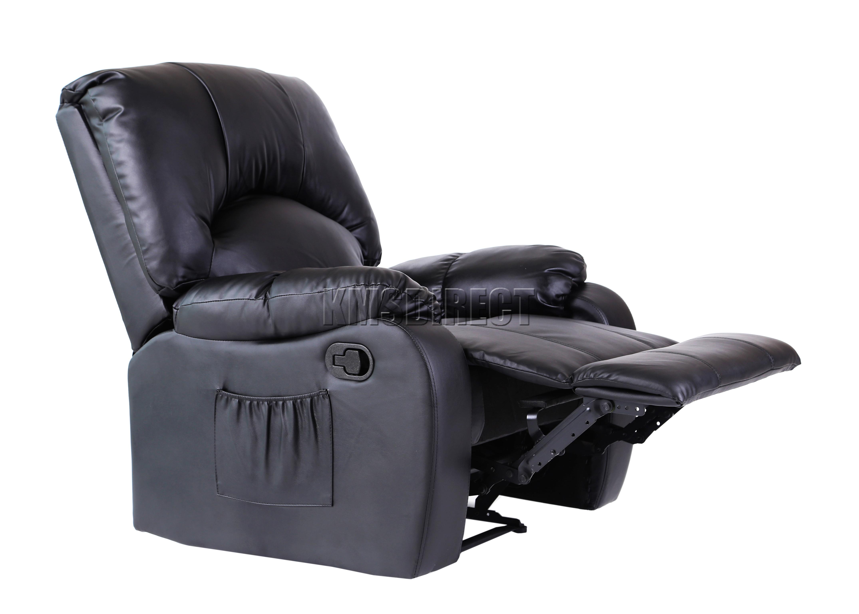 Foxhunter piel masaje cine silla reclinable sof sill n for Favor 03 massage chair