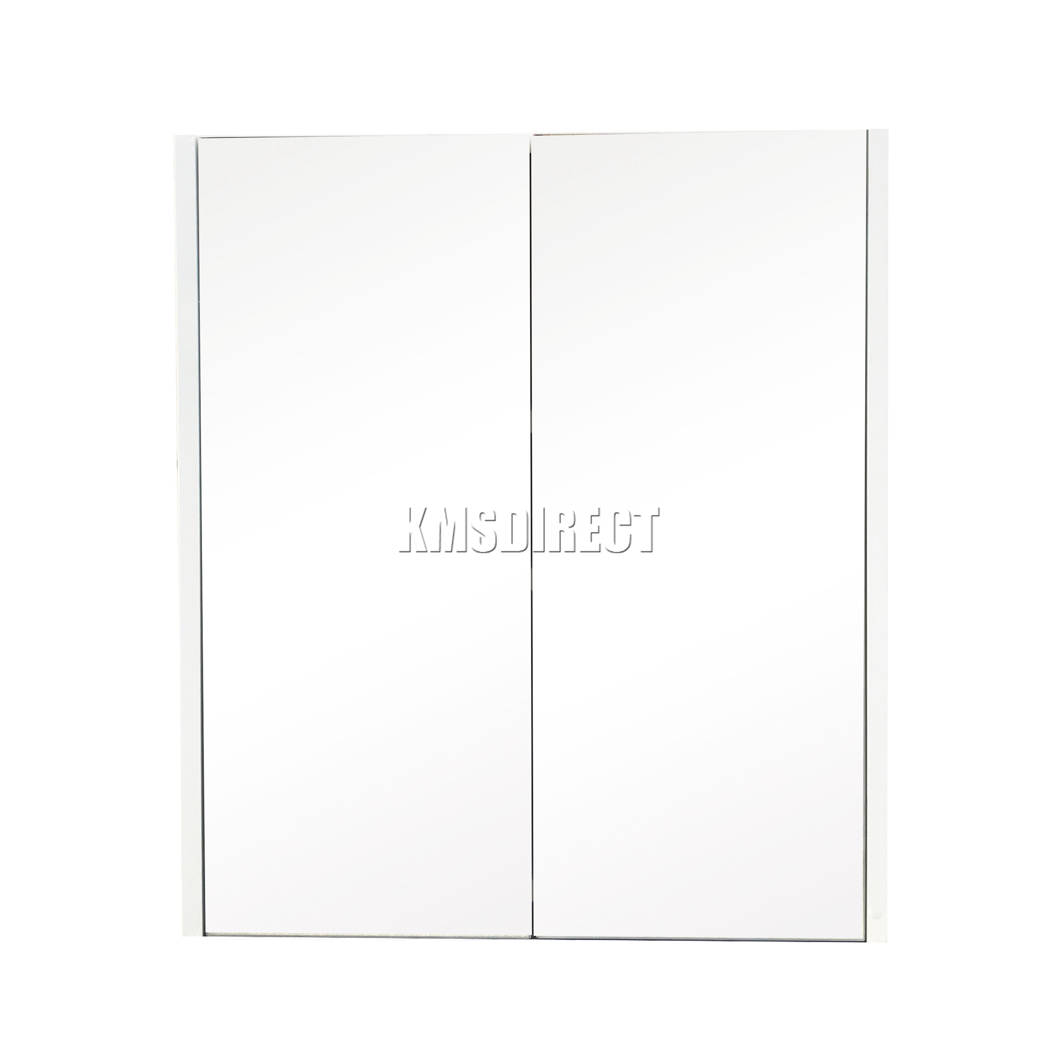 White Mirrored Bathroom Cabinets Foxhunter Wall Mount Mirror Bathroom Cabinet Unit Storage Cupboard