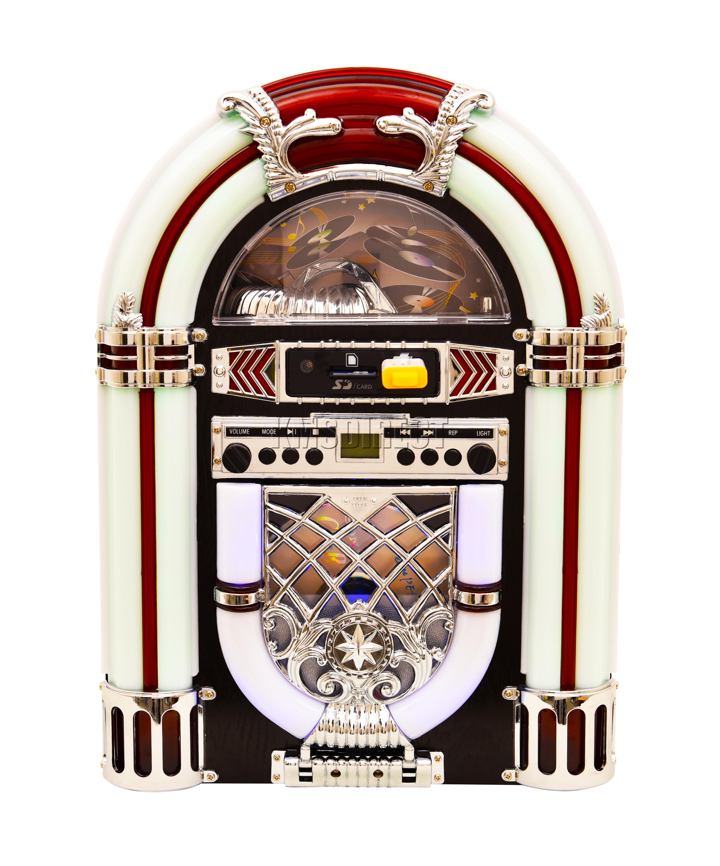 table jukebox. sentinel foxhunter jukebox stereo mp3 cd player usb aux sd fm radio bluetooth music black table