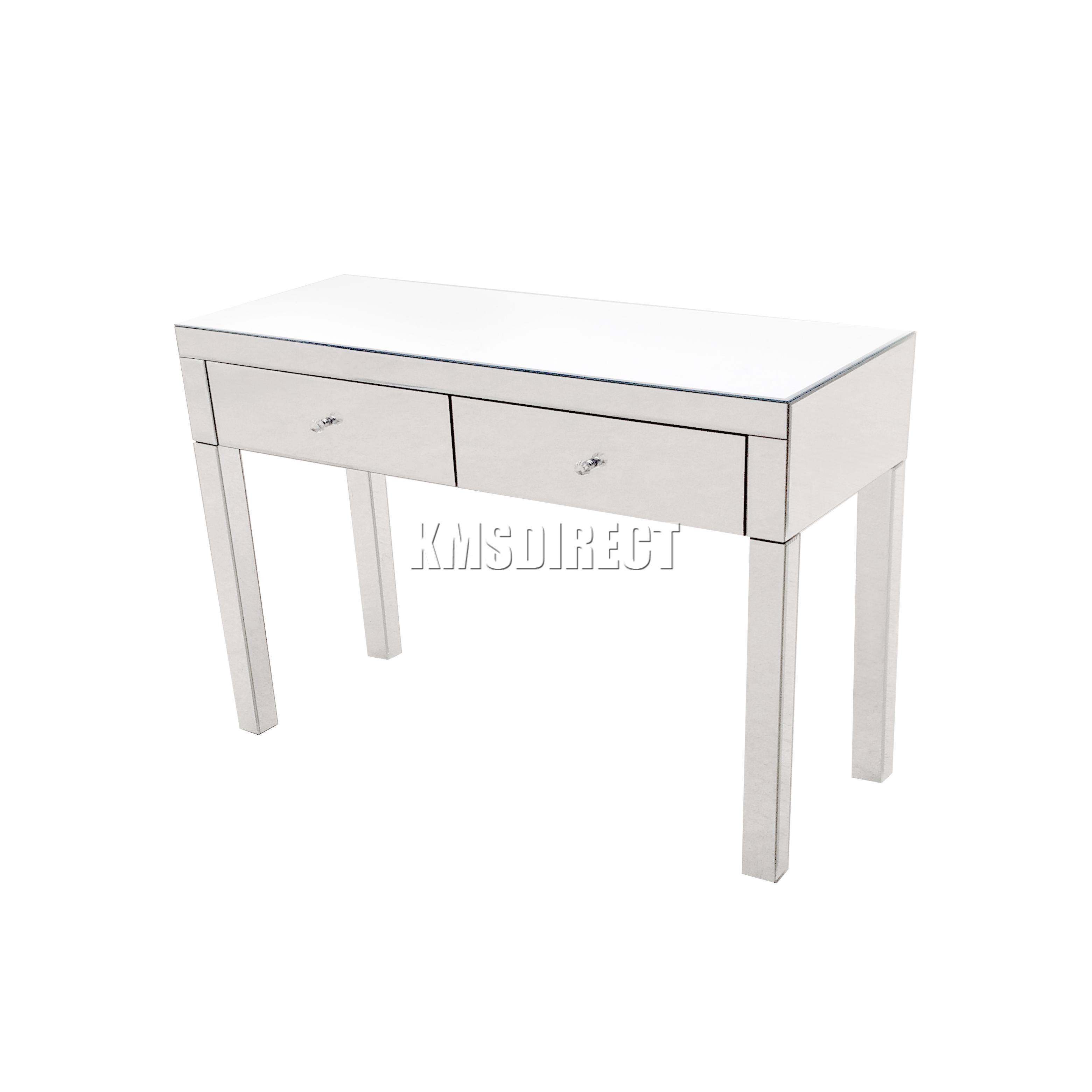 Foxhunter copi meubles verre coiffeuse avec tiroir for Meuble coiffeuse en anglais