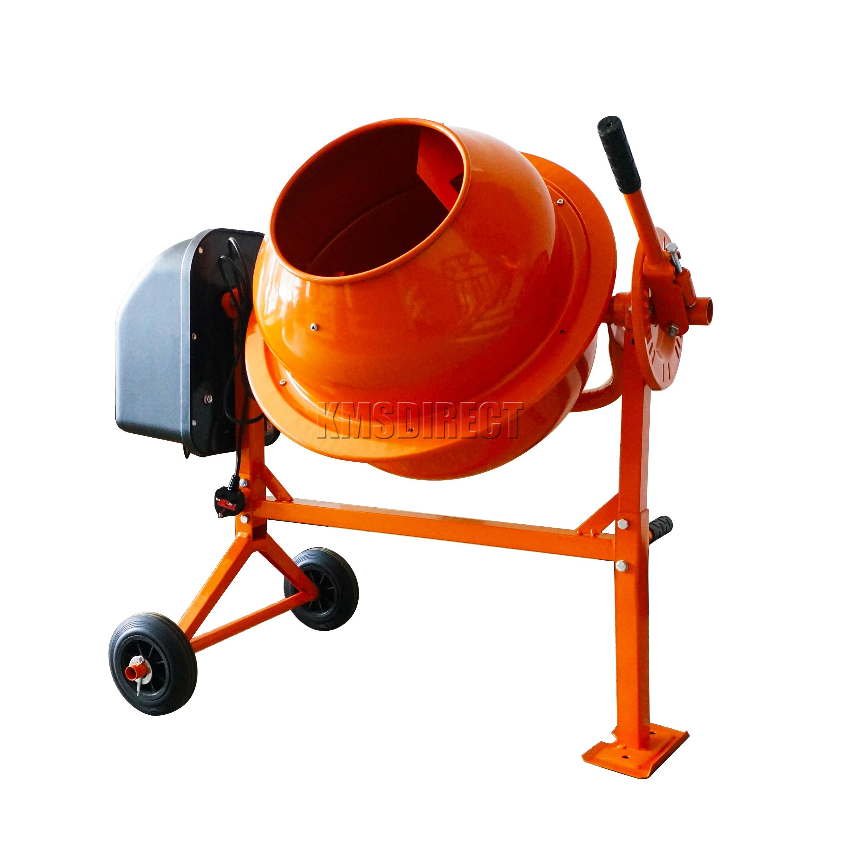 Portable Electric Mixer ~ Foxhunter w l drum portable electric concrete cement