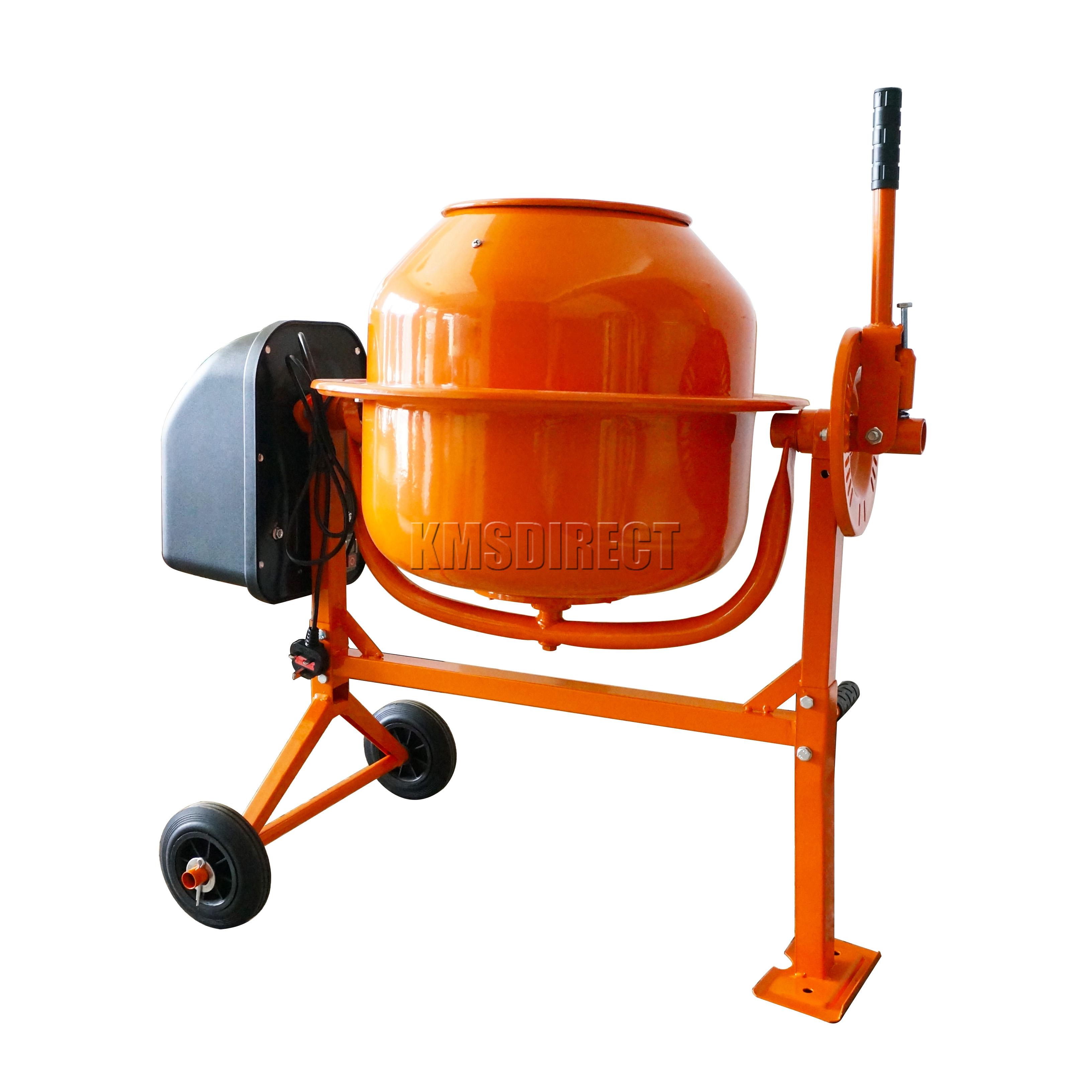 Electric Mortar Mixer ~ Foxhunter w l drum portable electric concrete cement