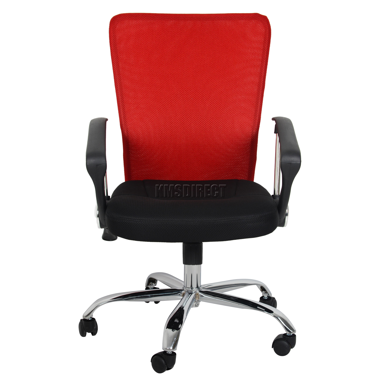 FoxHunter puter Executive fice Desk Chair Mesh Fabric Swivel