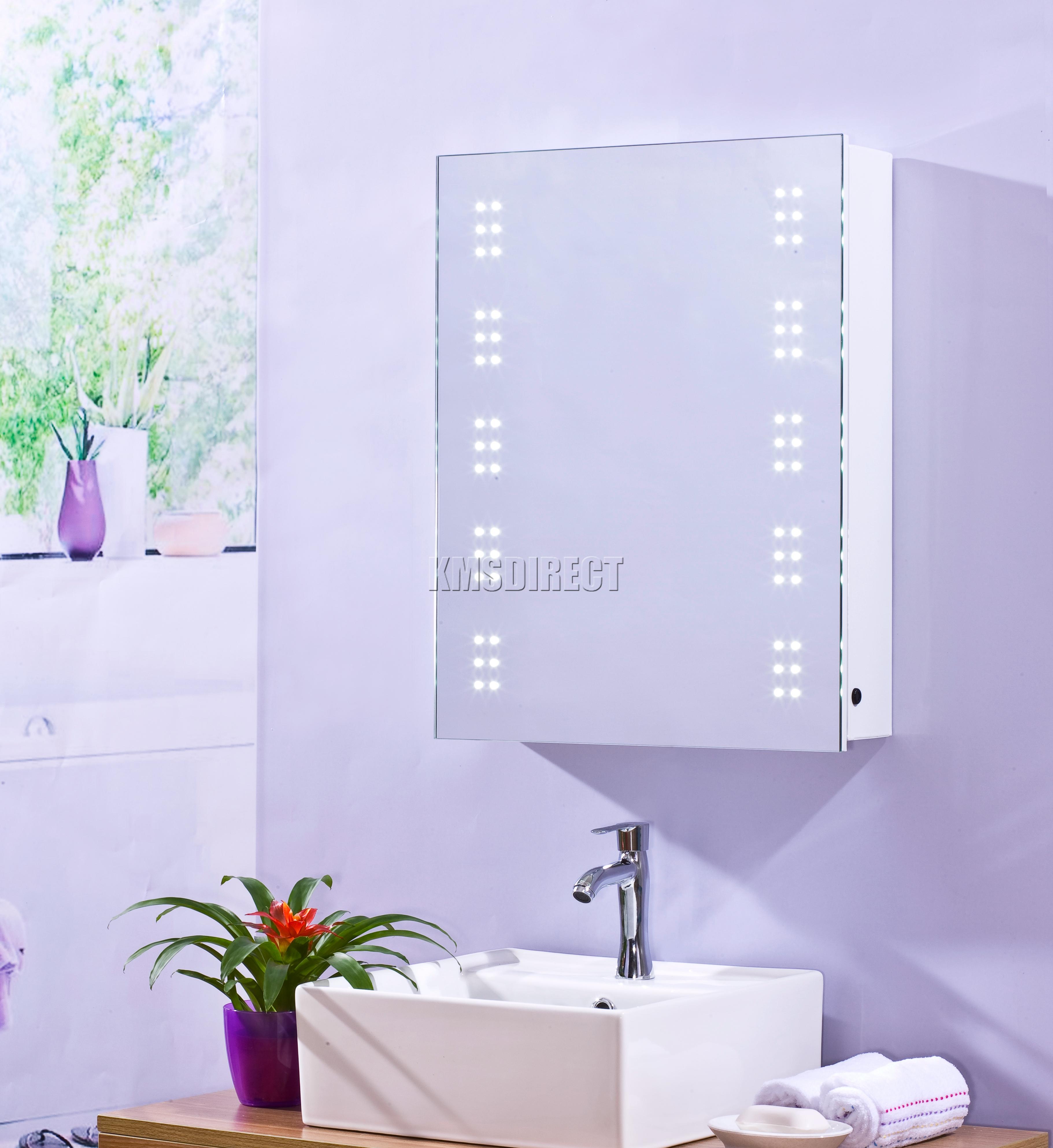 led cabinet internal shaver socket and demister modern bathroom