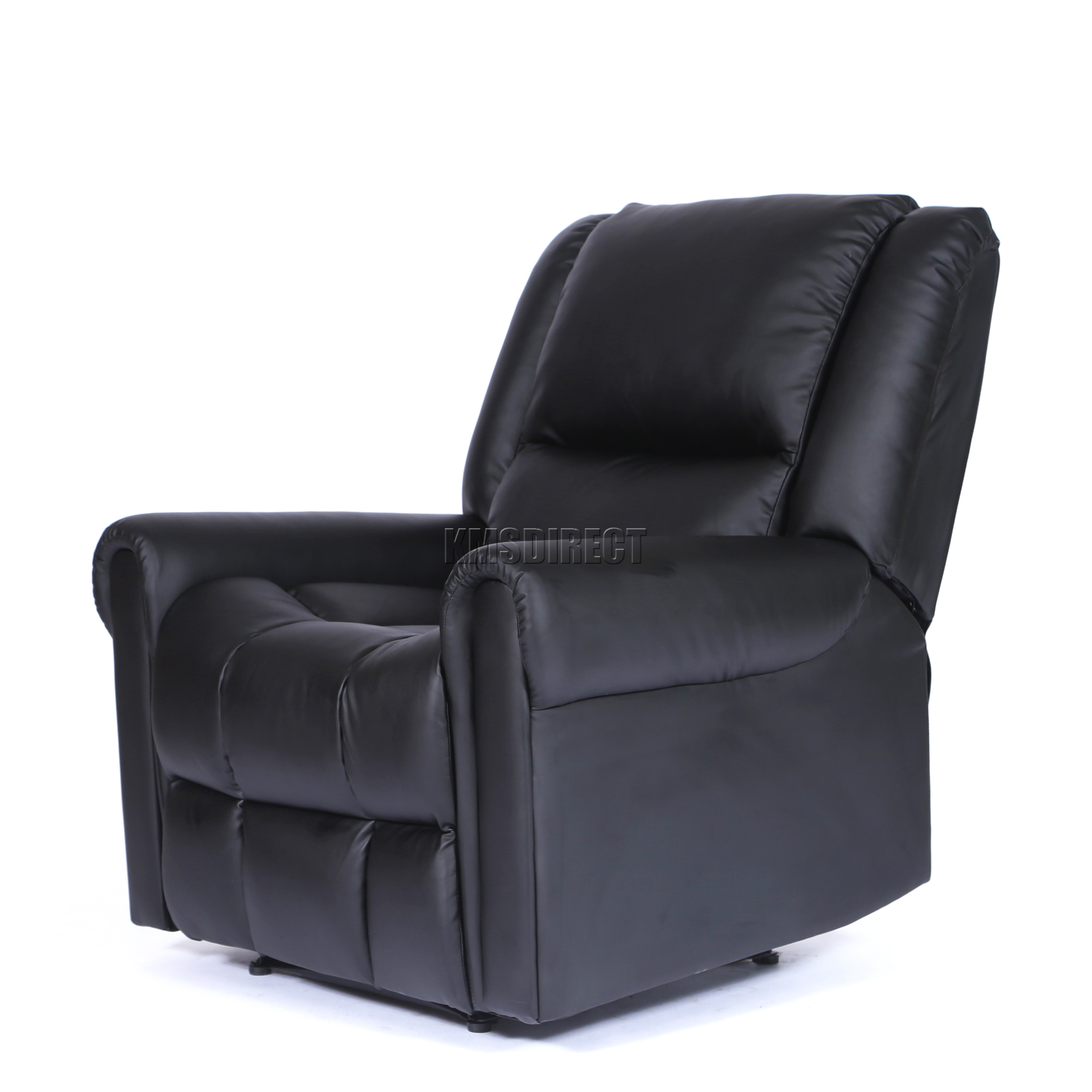 foxhunter luxe 1 place cuir cinema fauteuil inclinable canap chaise rs03 noir ebay. Black Bedroom Furniture Sets. Home Design Ideas